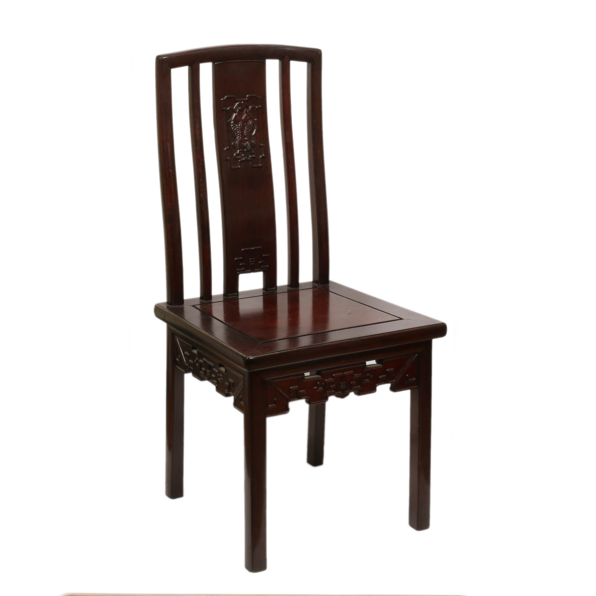 Chinese Mahogany Side Chair, Mid-20th Century