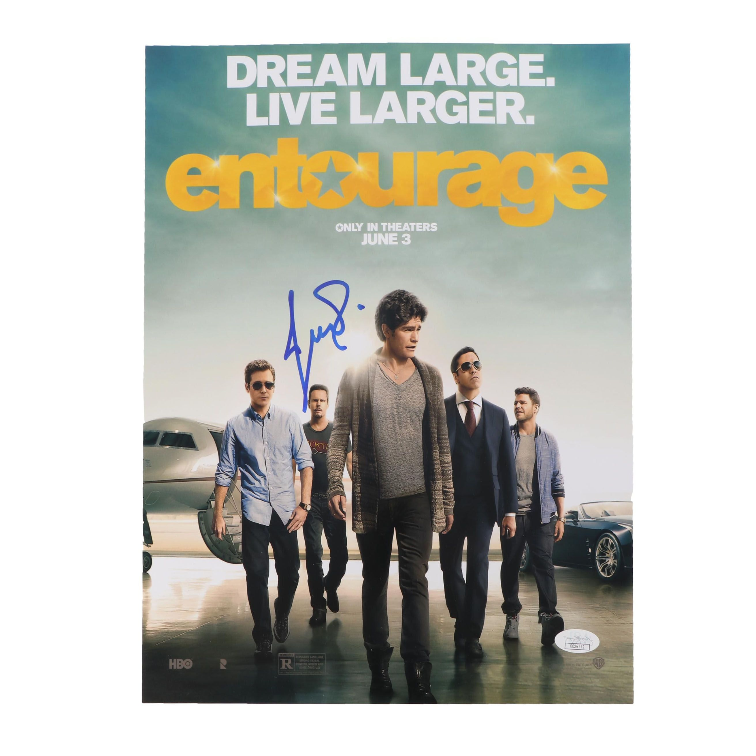 "Jeremy Piven Autographed ""Entourage"" Movie Poster JSA COA"
