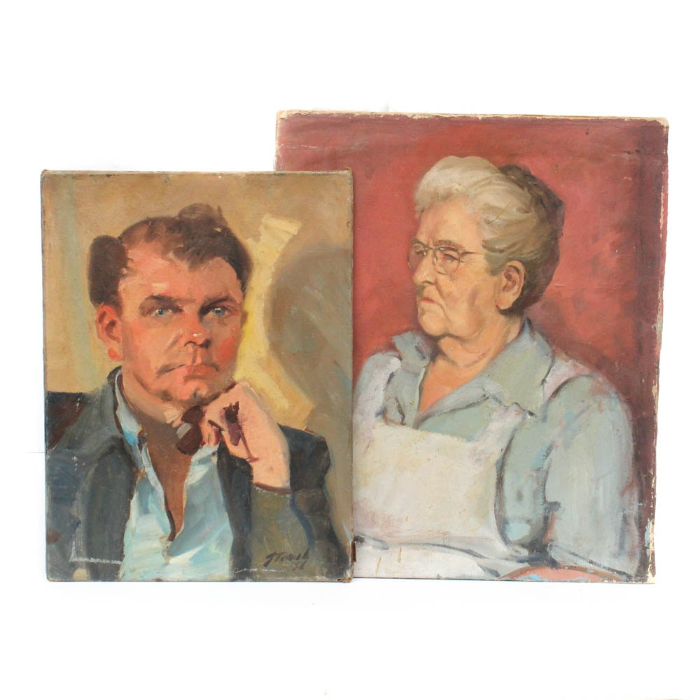 George Straub Portrait Oil Paintings