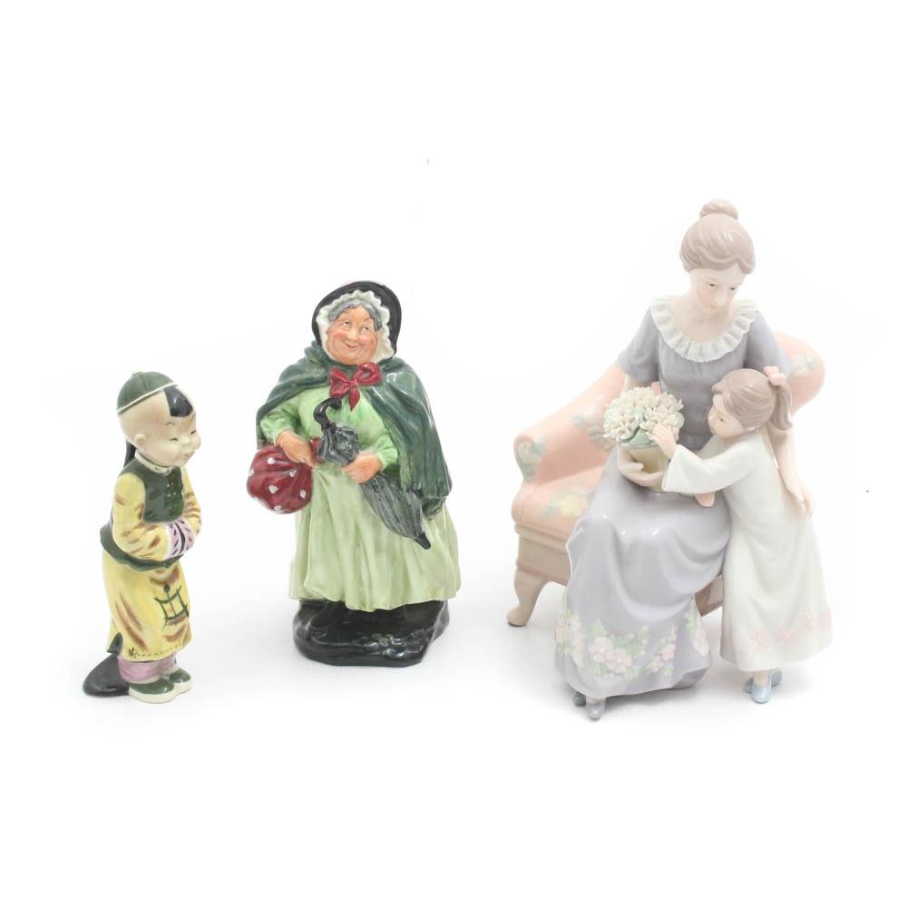 "Bone China Figurines Featuring Royal Doulton ""Sairey Gamp"""