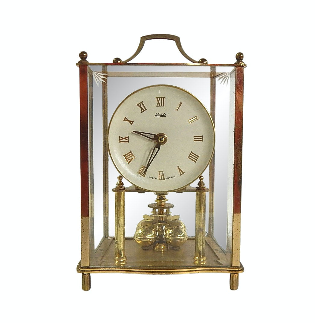Kundo German Brass Anniversary Carriage Clock