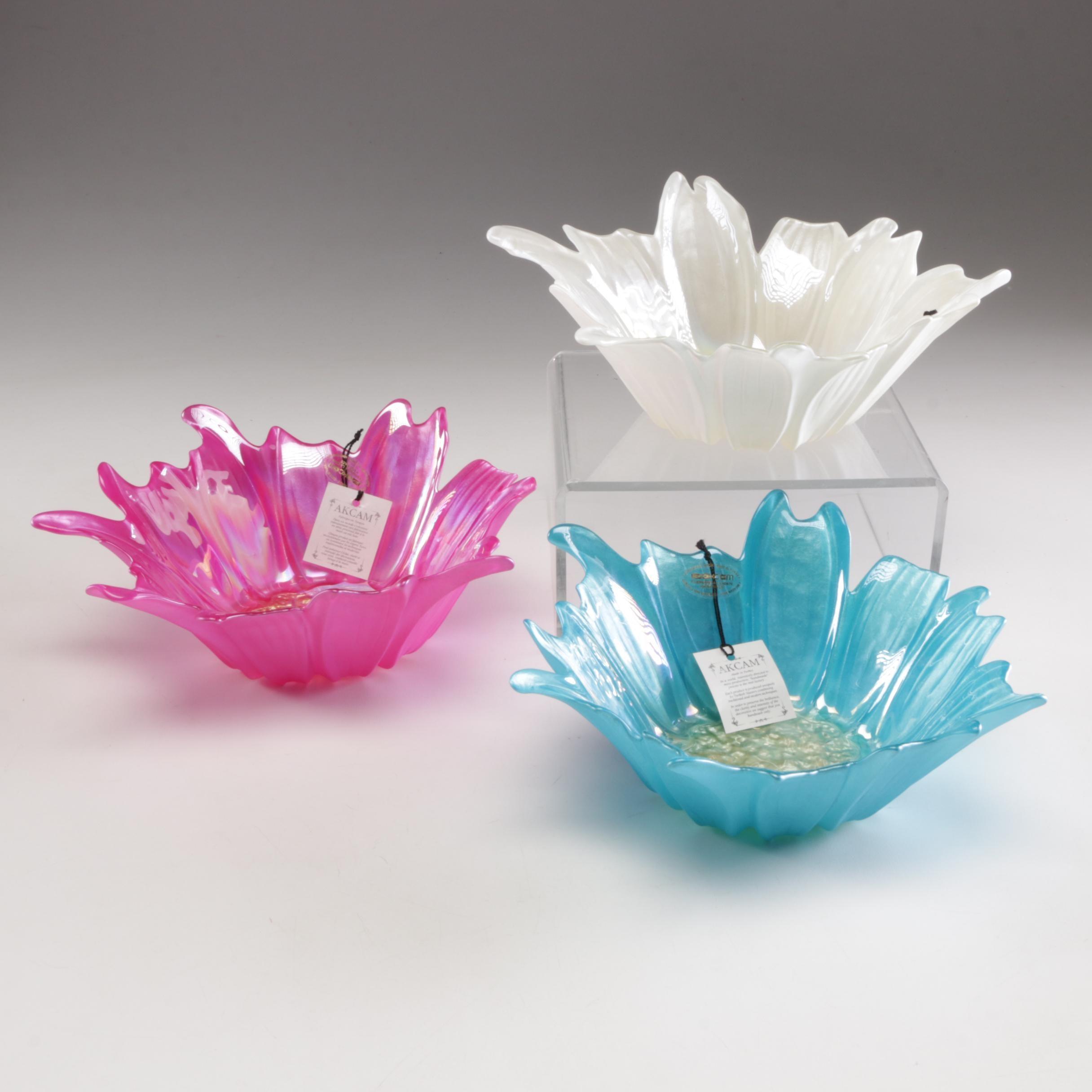 Akcam Turkish Art Glass Decorative Bowls