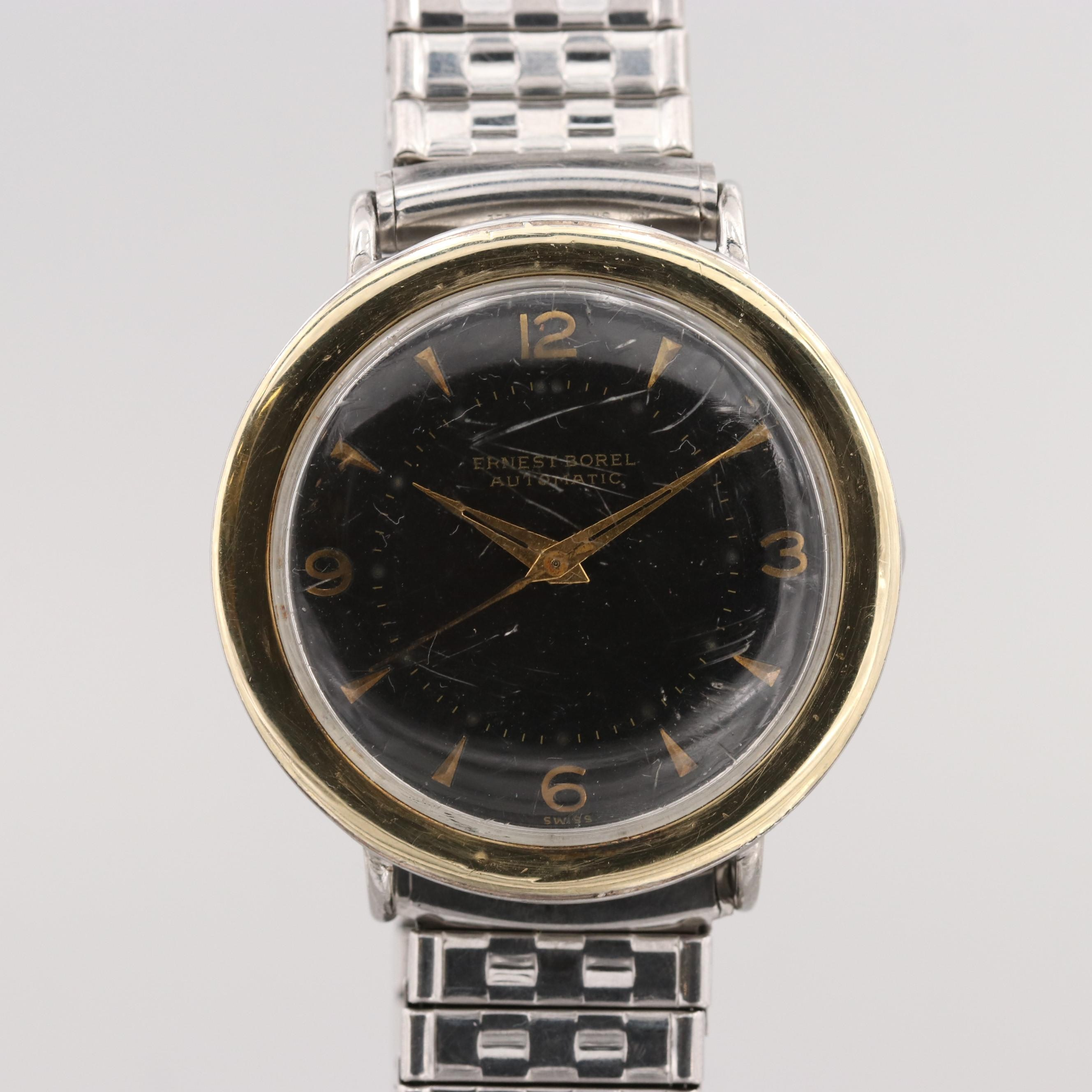 Vintage Ernest Borel Two Tone Automatic Wristwatch