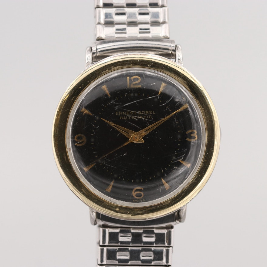 d7faeab6daa Vintage Ernest Borel Two Tone Automatic Wristwatch