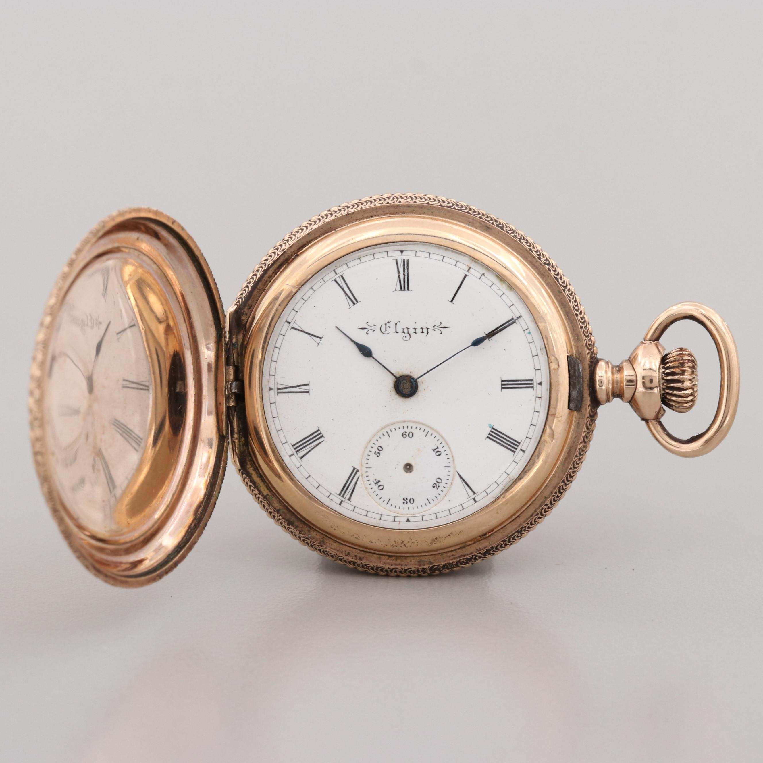 Elgin Gold Filled Pocket Watch, 1899