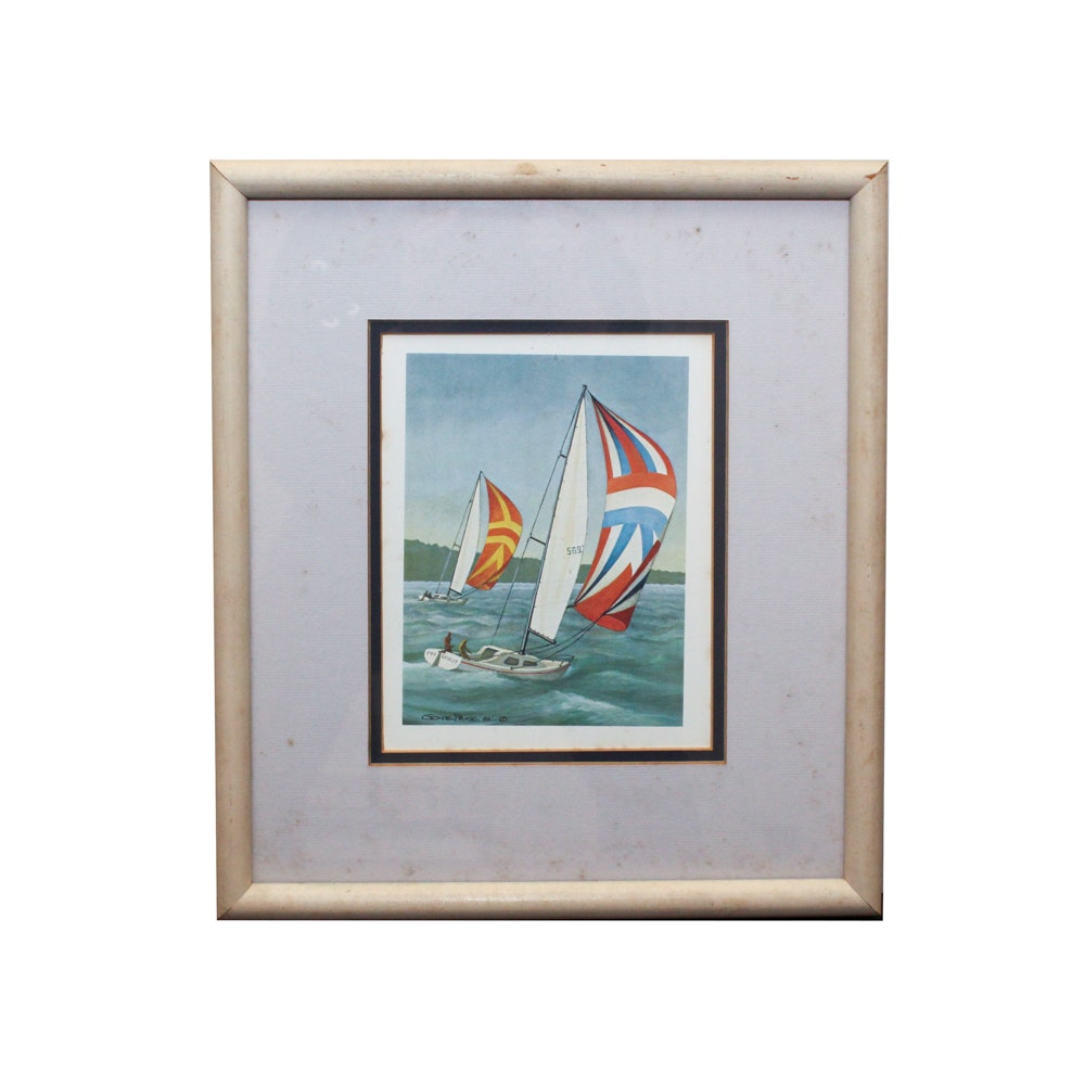 Nautical Offset Lithograph after Gene Price