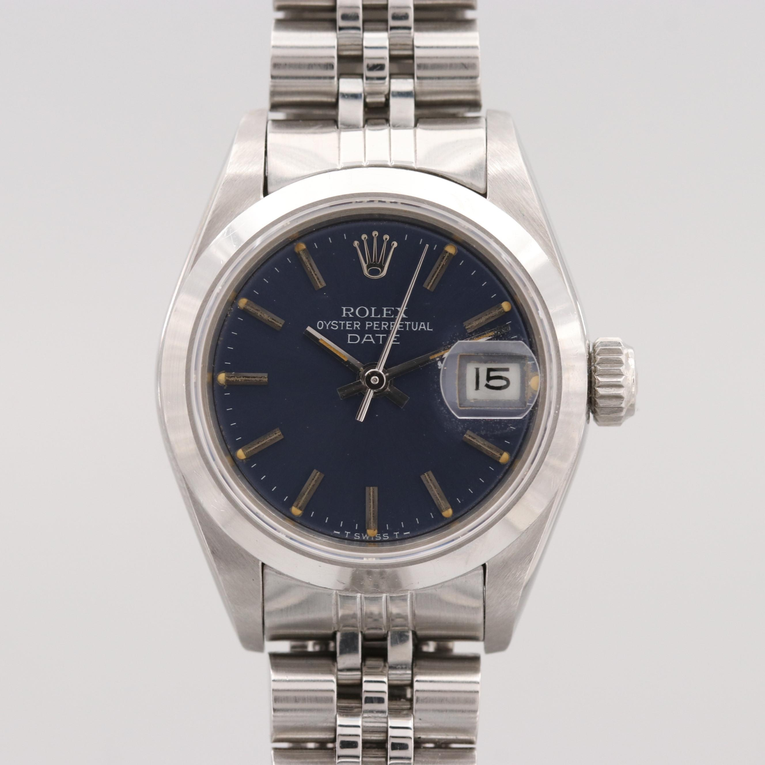 Rolex Date Stainless Steel Wristwatch, 1984