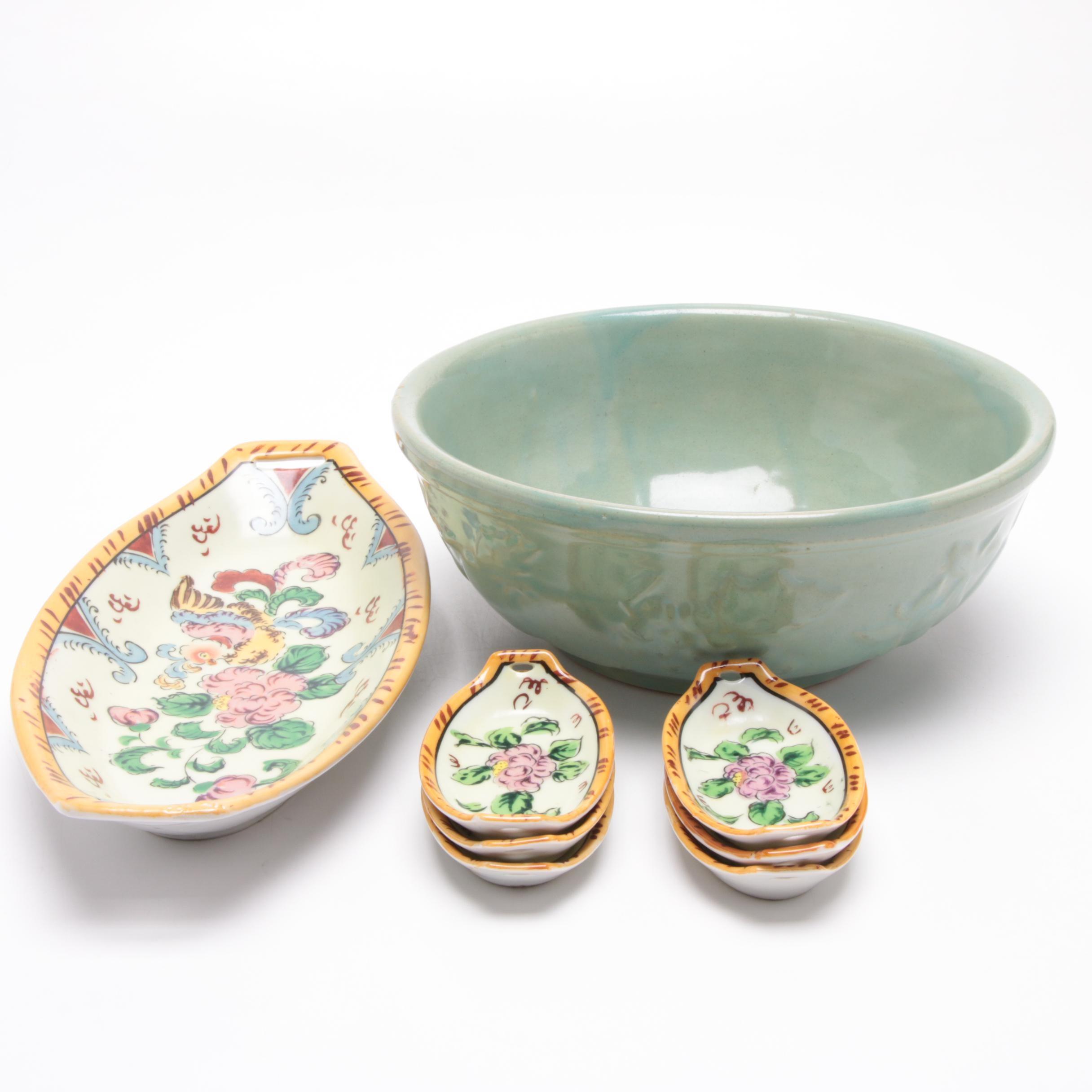 Takito Ceramic Serveware and American-Made Vegetable Bowl