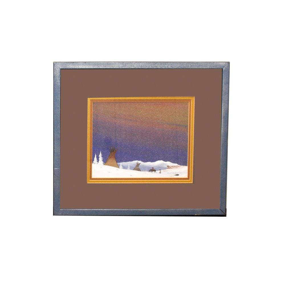 Robert Redbird Landscape Oil Painting