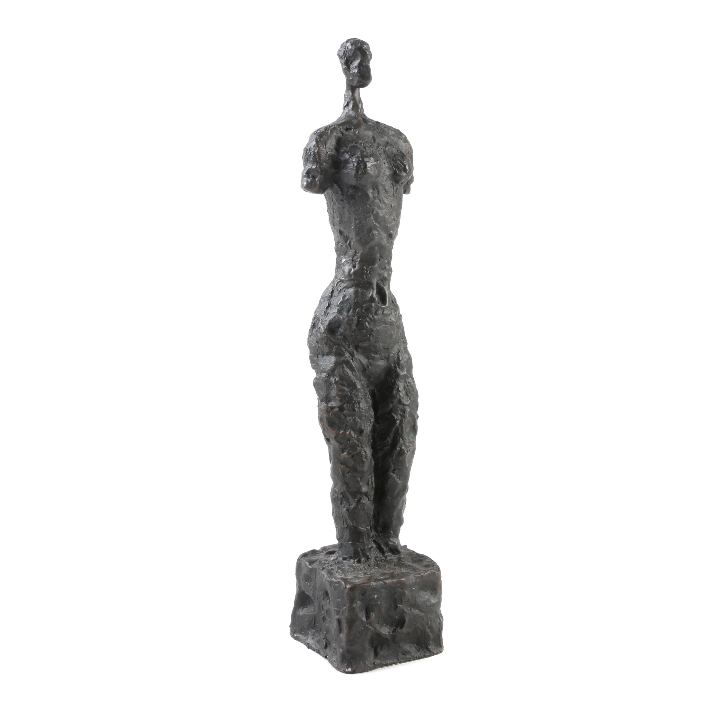 Abstract Bronze Female Nude Sculpture