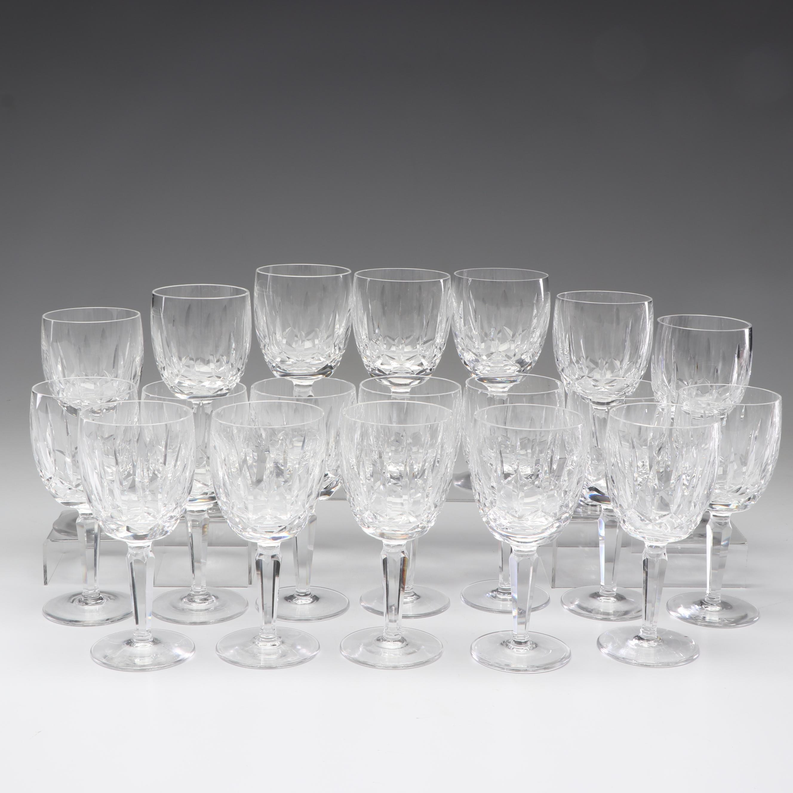 "Waterford Crystal ""Kildare"" Water Goblets and Champagne Flutes"