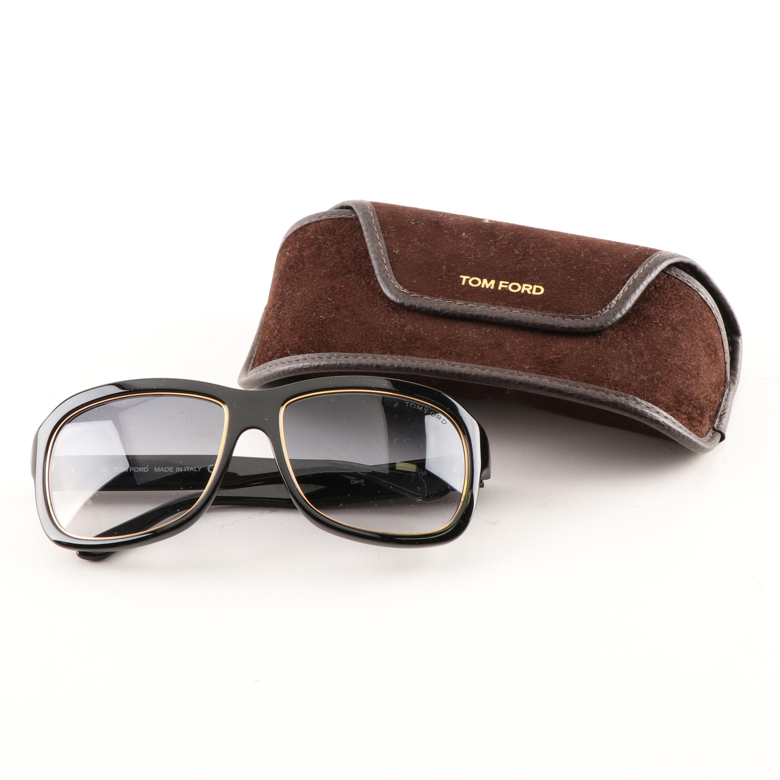 "Tom Ford ""David"" Sunglasses with Case"