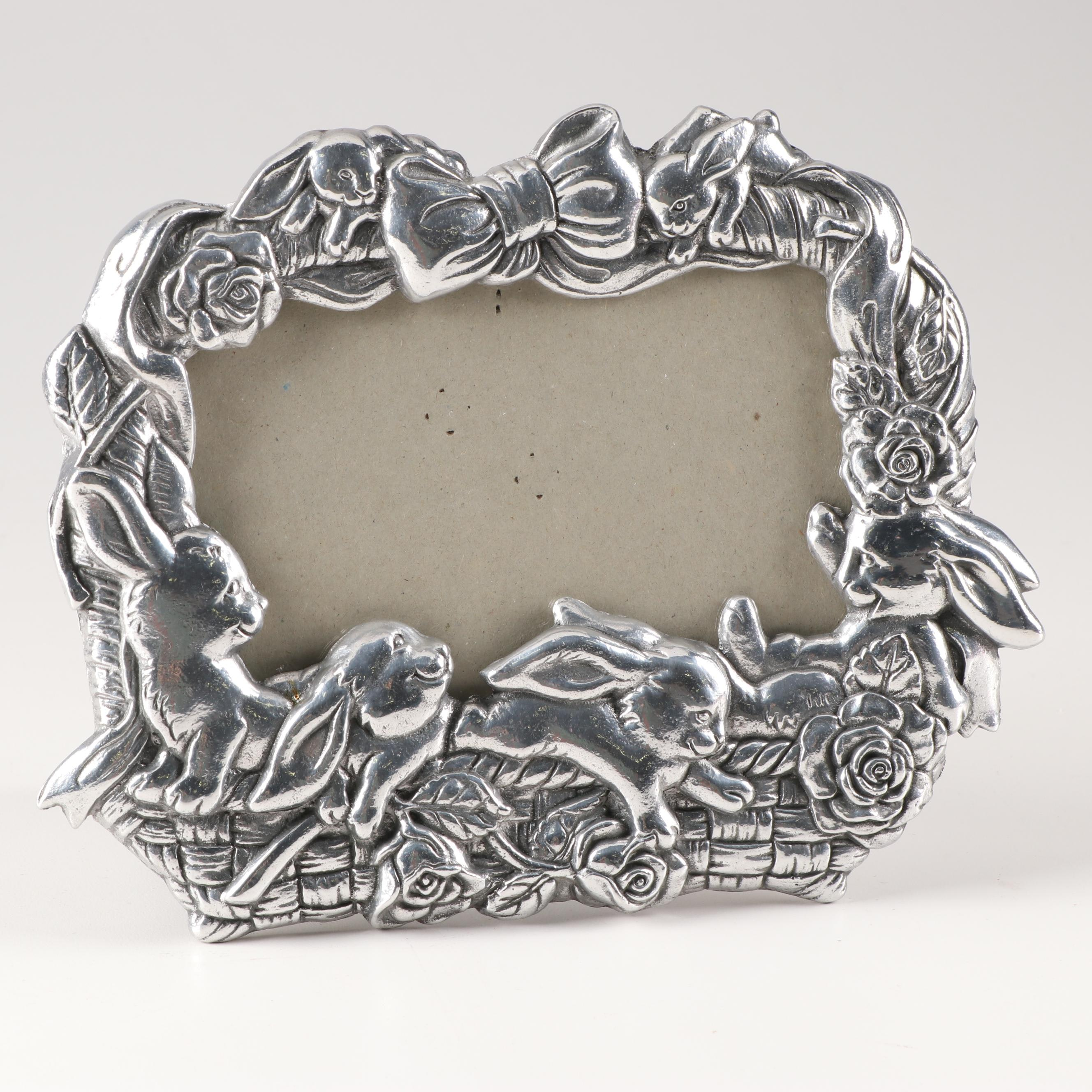 """Arthur Court """"Bunnies in Basket"""" Picture Frame"""