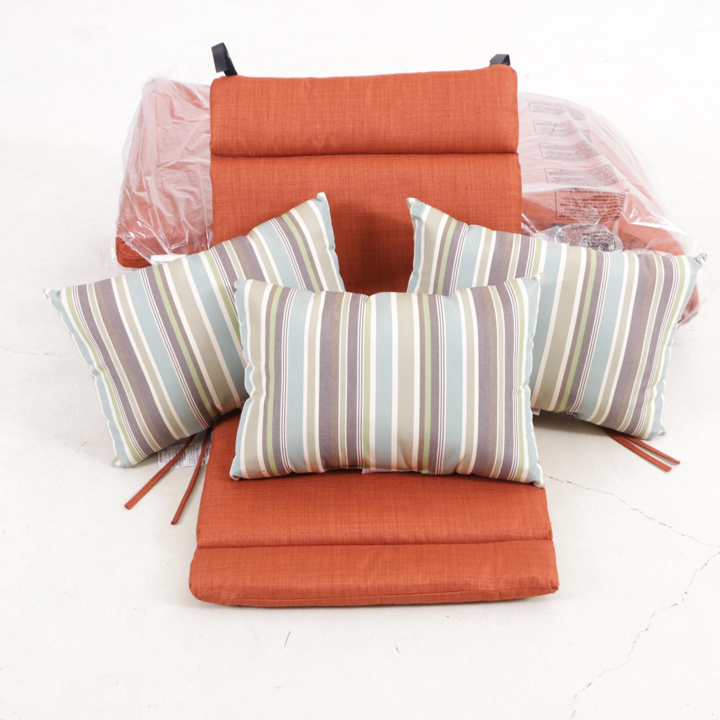 Blazing Needles Polyester Outdoor Seat Cushions and Thomasville Outdoor Pillows
