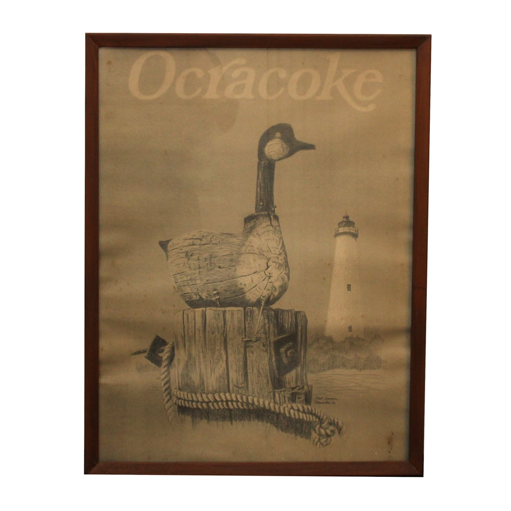"Offset Lithograph after Fred Cramer ""Ocracoke"""