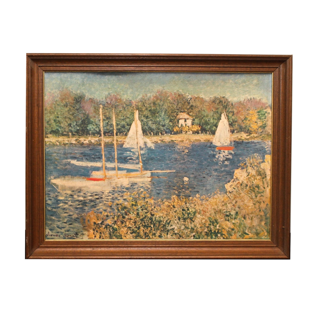 "Giclée after Claude Monet ""The Basin at Argenteuil"""