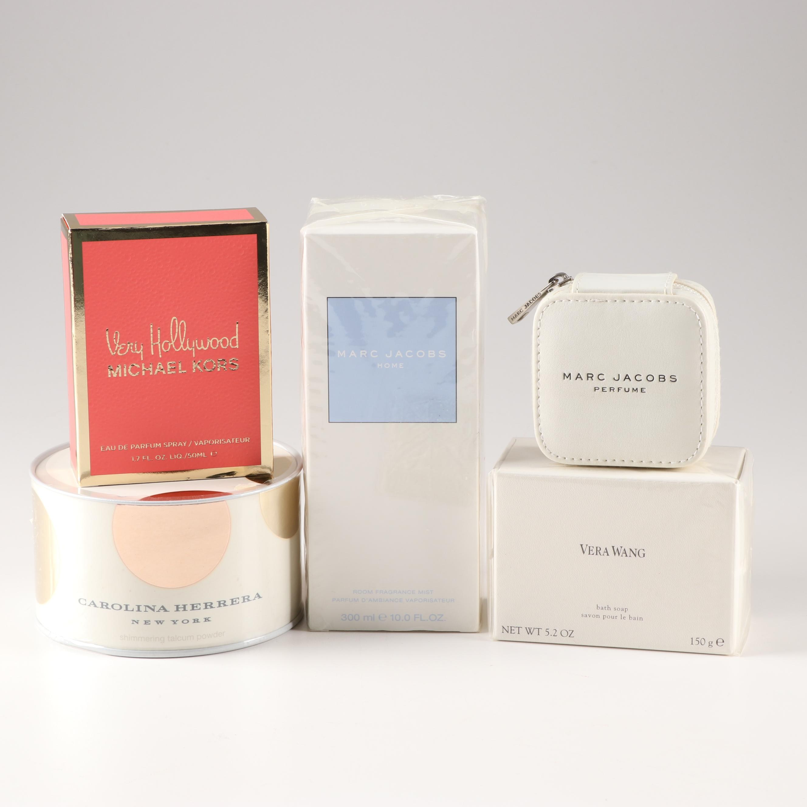 Marc Jacobs, Carolina Herrera and Vera Wang Powder, Perfume and Soap
