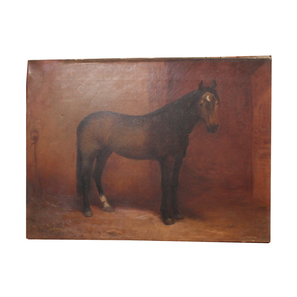 Late 19th Century Equine Oil Painting