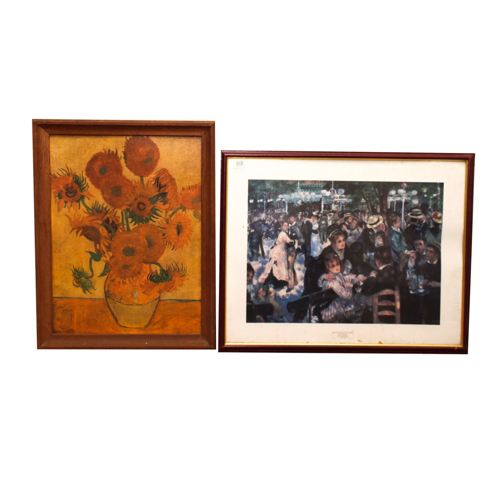 Offset Lithographs after Van Gogh and Pierre-Auguste Renoir