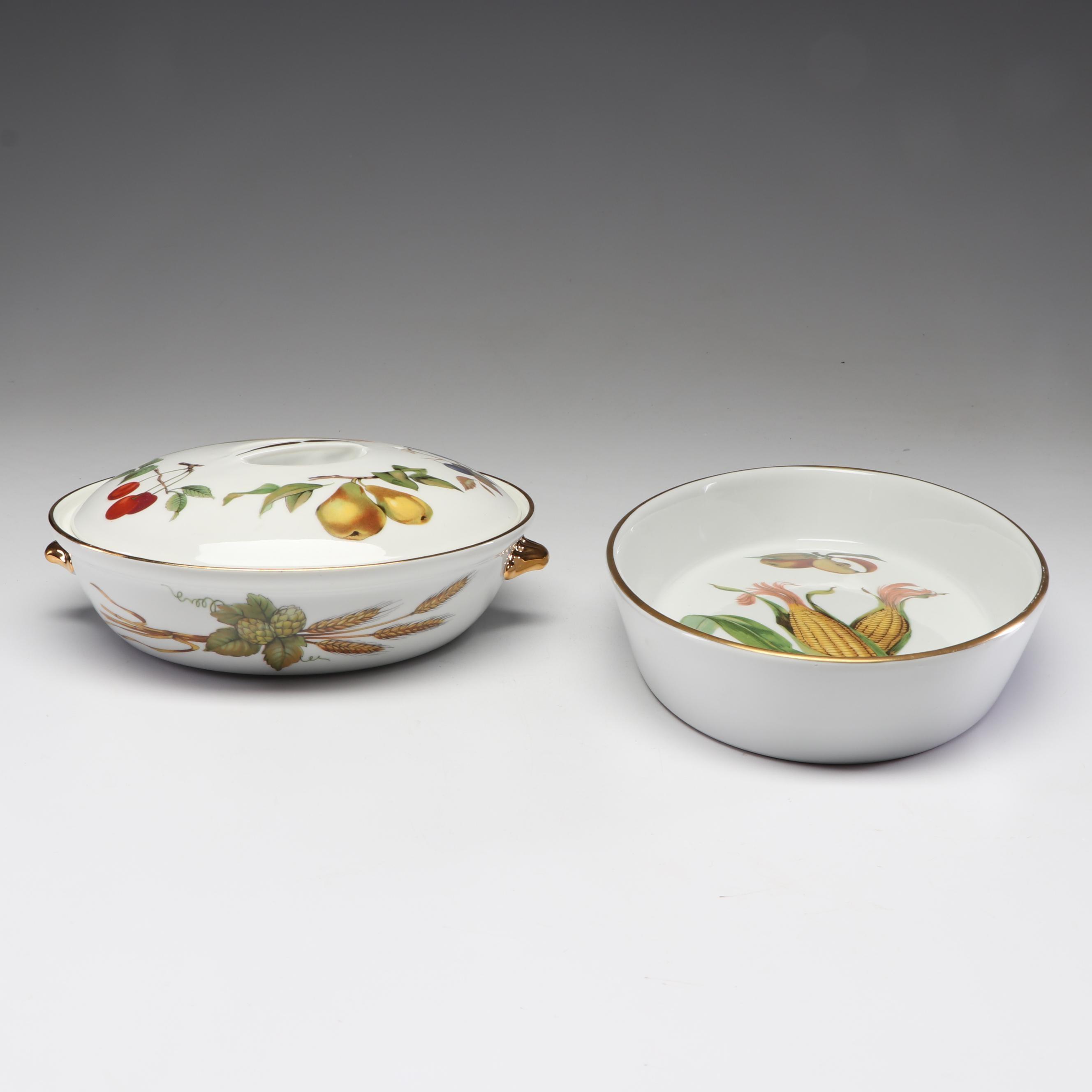 """Royal Worchester """"Evesham"""" Porcelain Bakeware"""