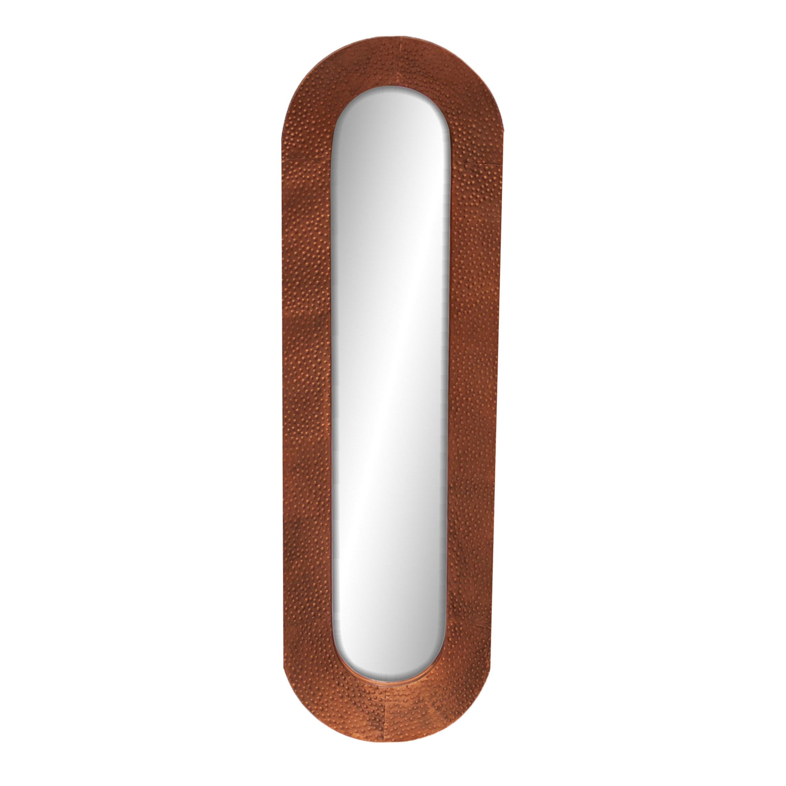 Zuo Modern Curved Vertical Copper Textured Mirror, Contemporary