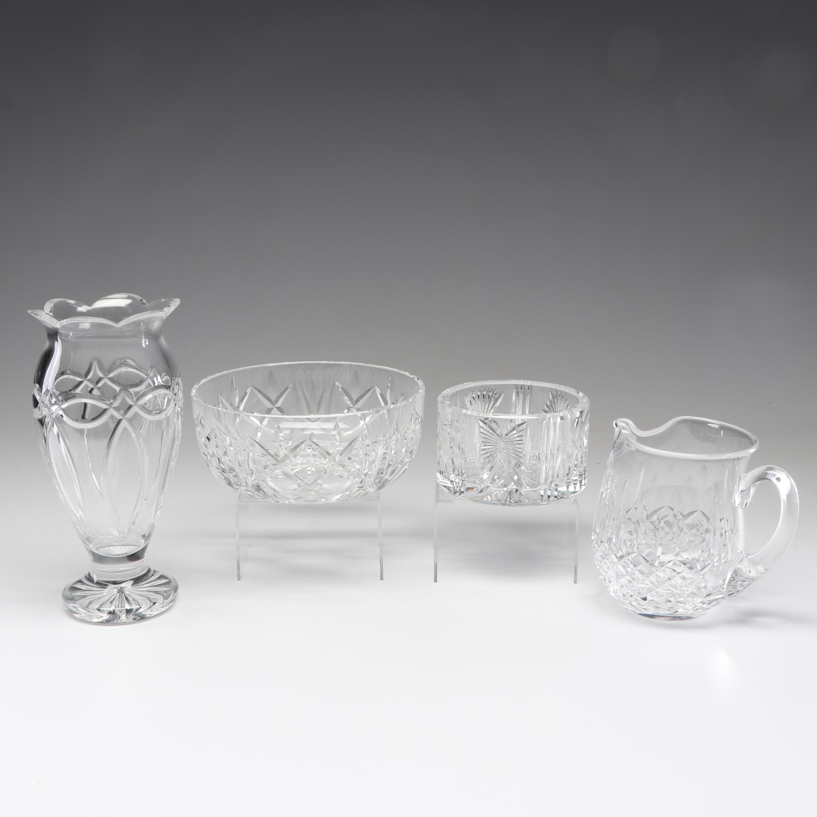 """Waterford Crystal Decor with """"Lismore"""", """"Millenium"""" and """"Clannad"""""""