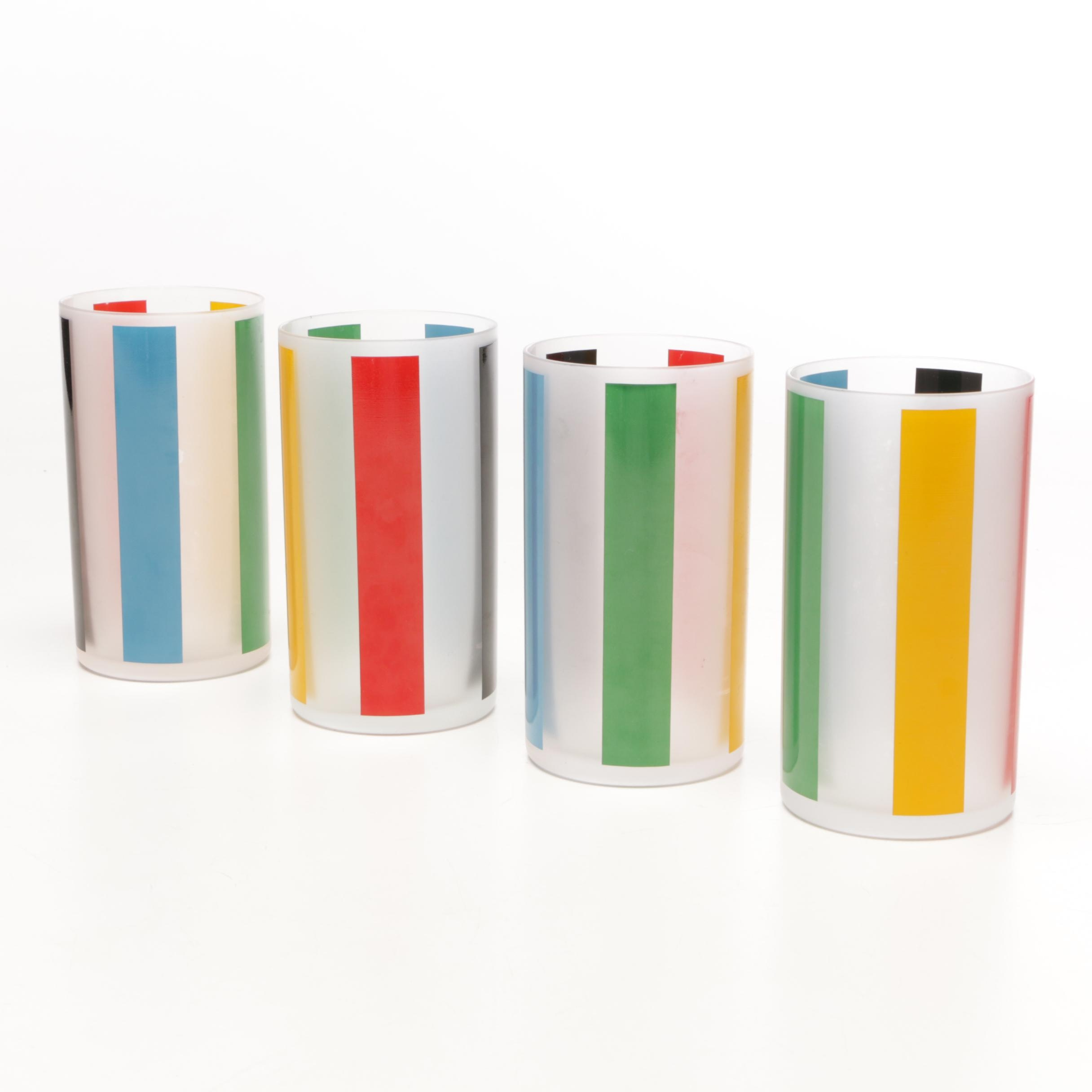 Prisma Barber Stripe Highball Glasses