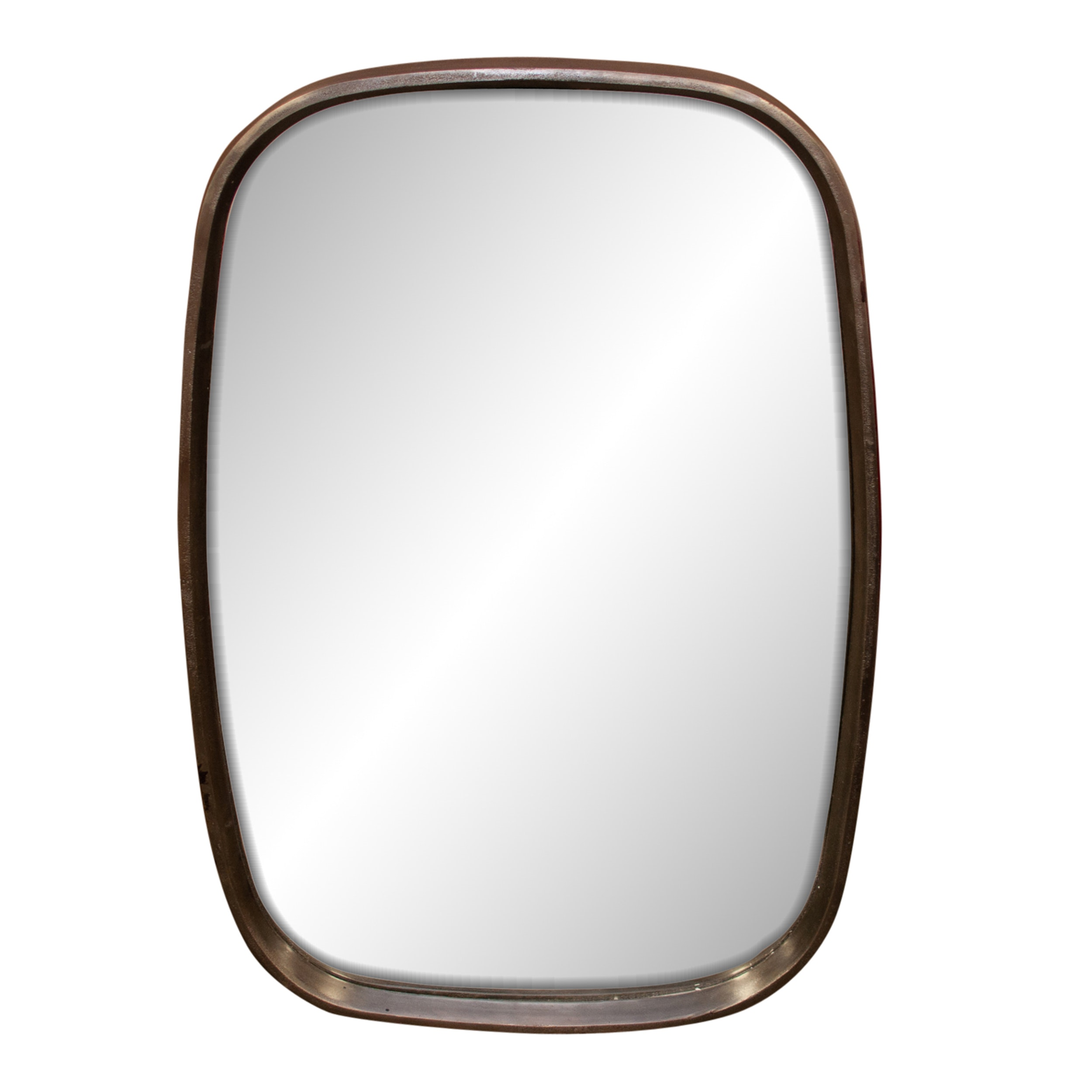 Rounded Metal Wall Mirror by Renwil, Contemporary