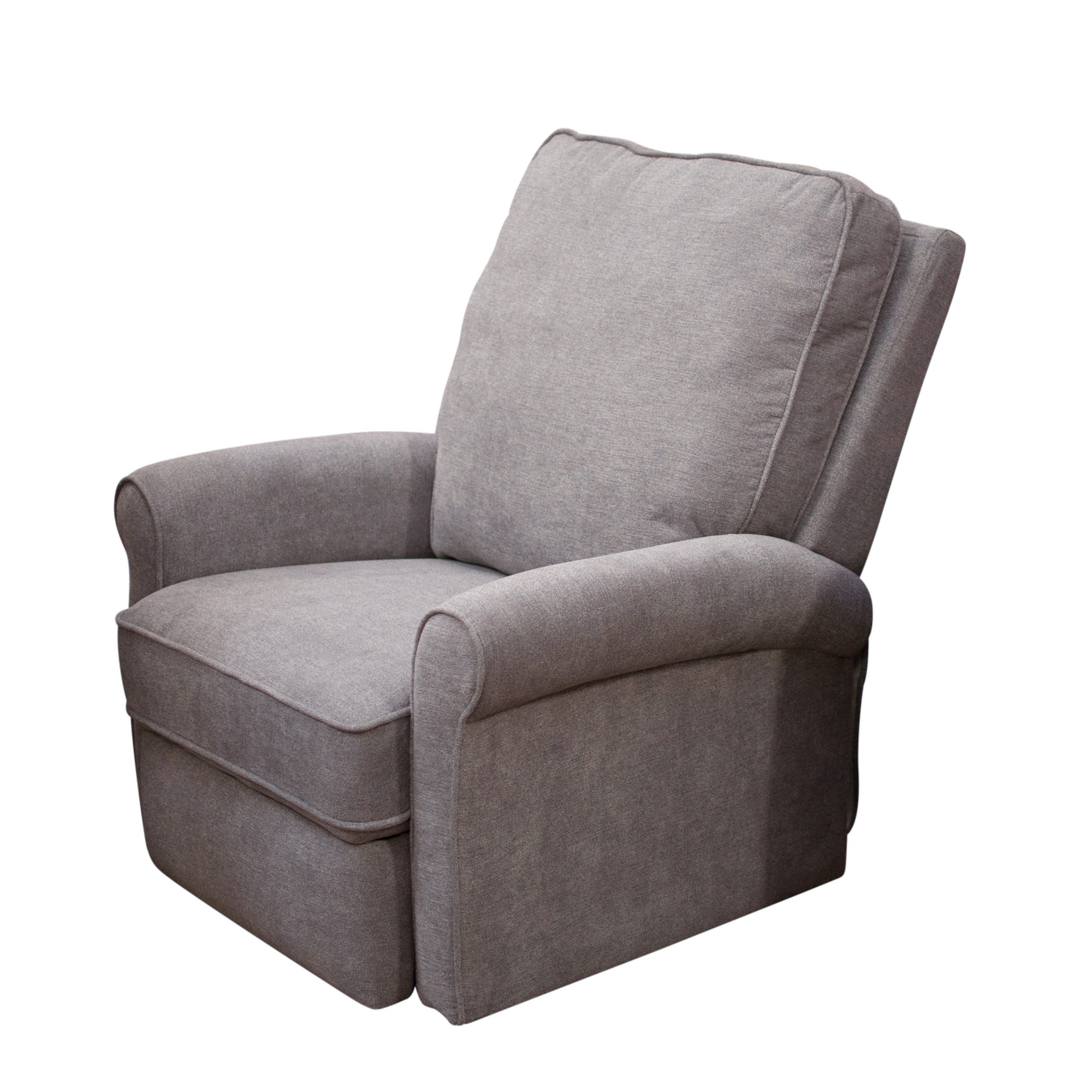 Gray Upholstered Reclining Club Chair, Contemporary