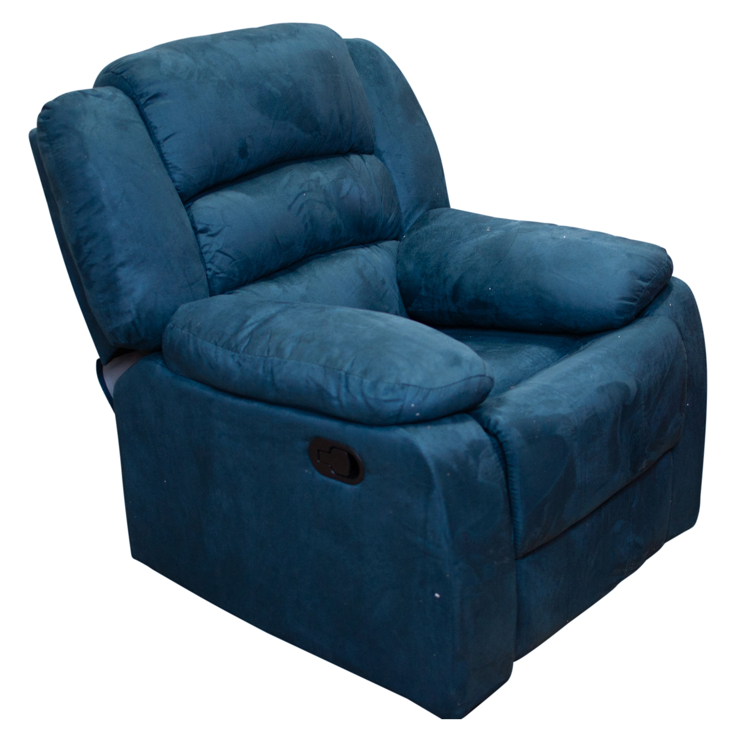 Blue Upholstered Reclining Club Chair, Contemporary