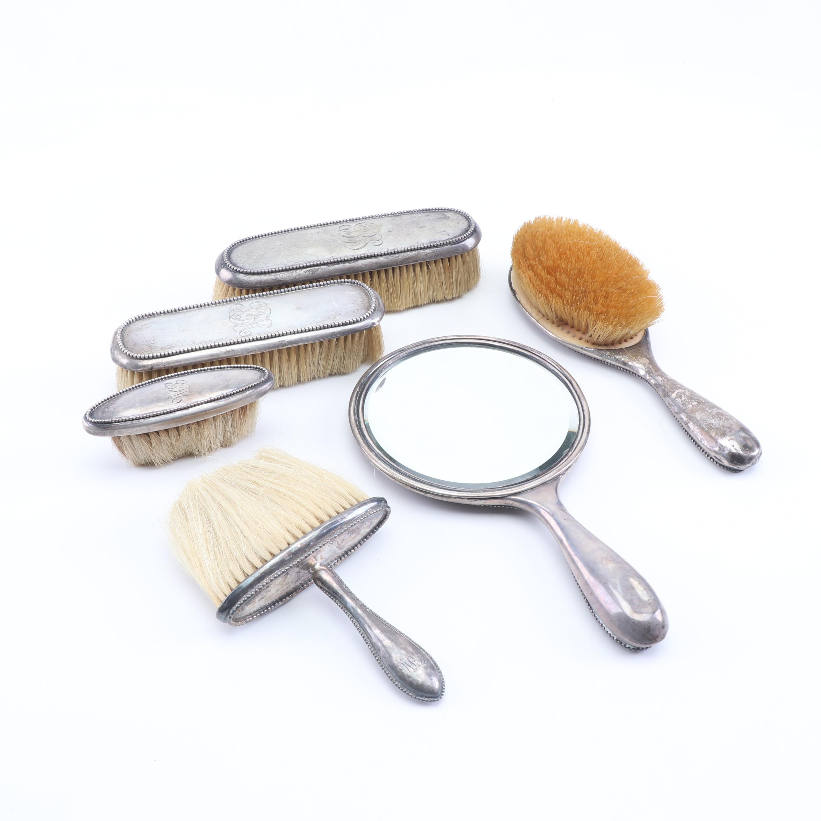 Henry Birks & Sons Sterling Silver Vanity Set, Late 19th to Early 20th Century