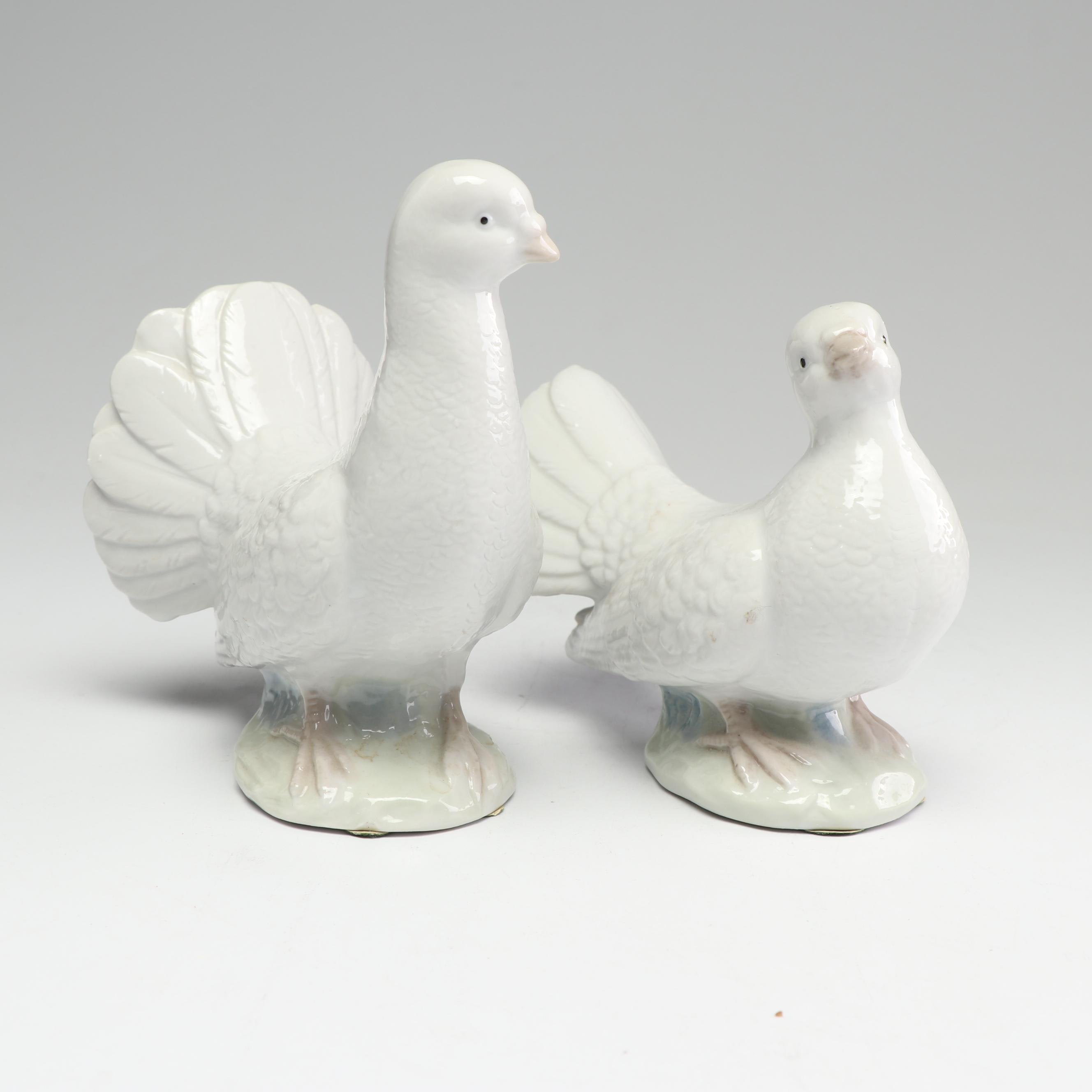 HOMCO Porcelain Dove Figurines, Mid to Late 20th Century