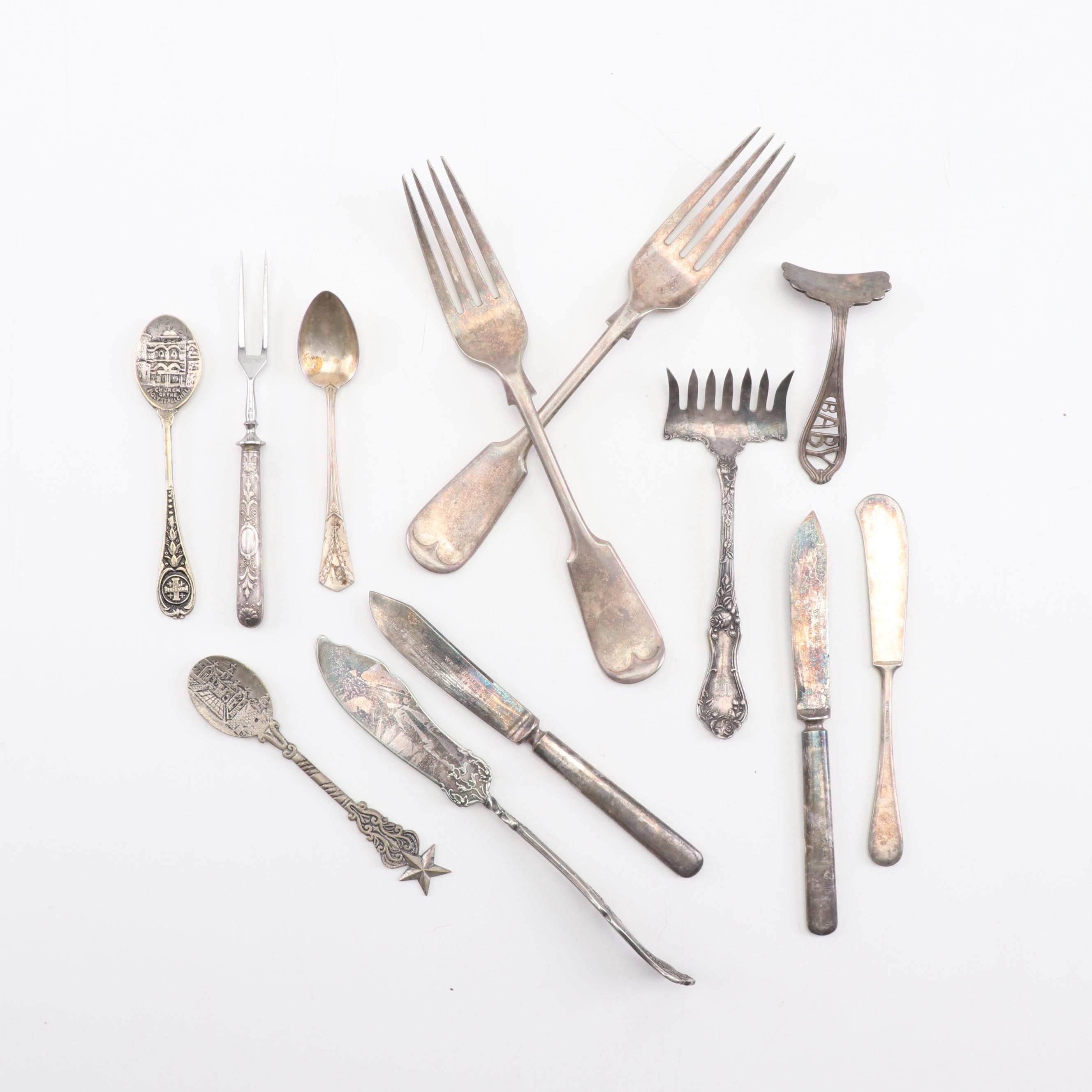 American and European Silver Plated Flatware, 19th and Early 20th Century