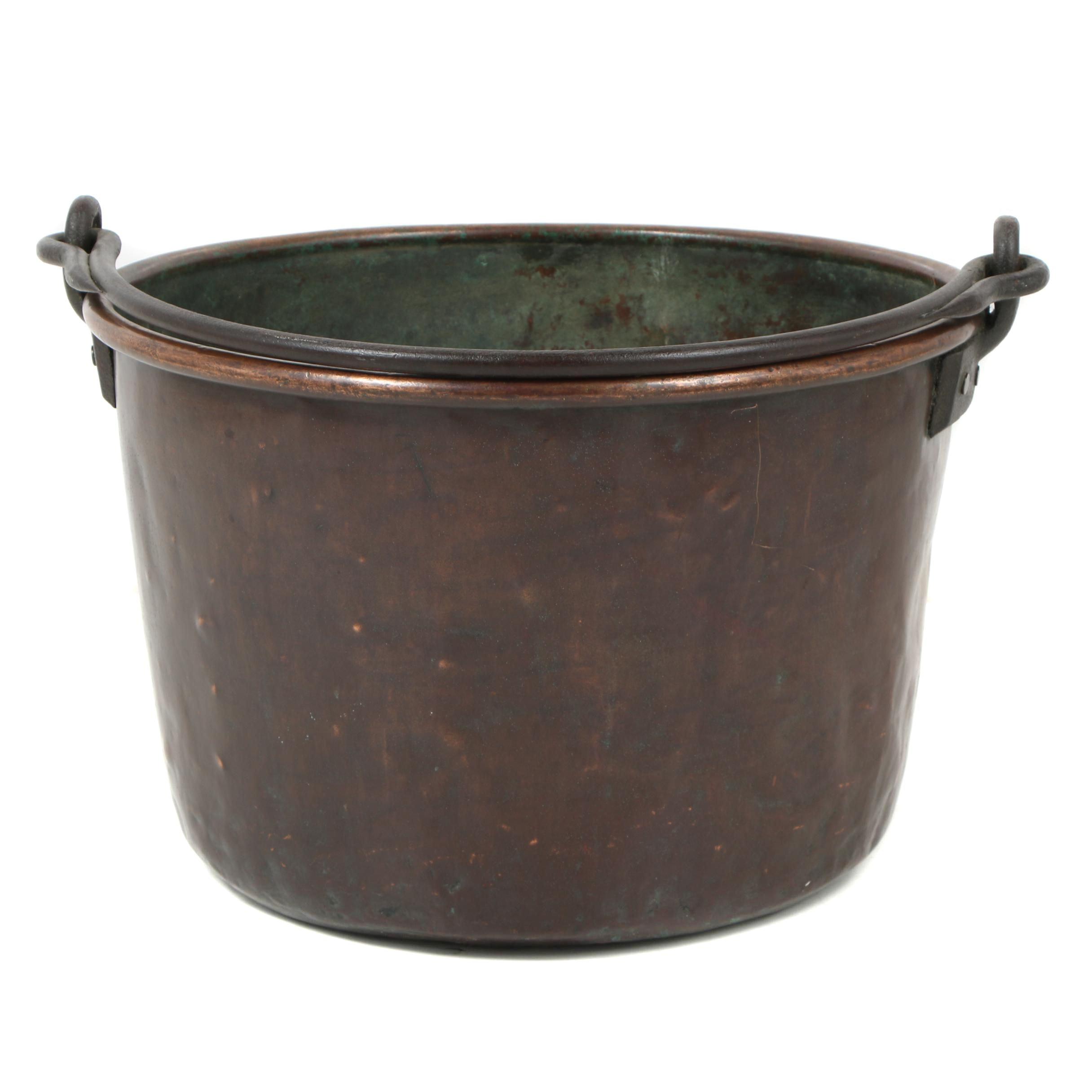 Decorative Large Copper Pot