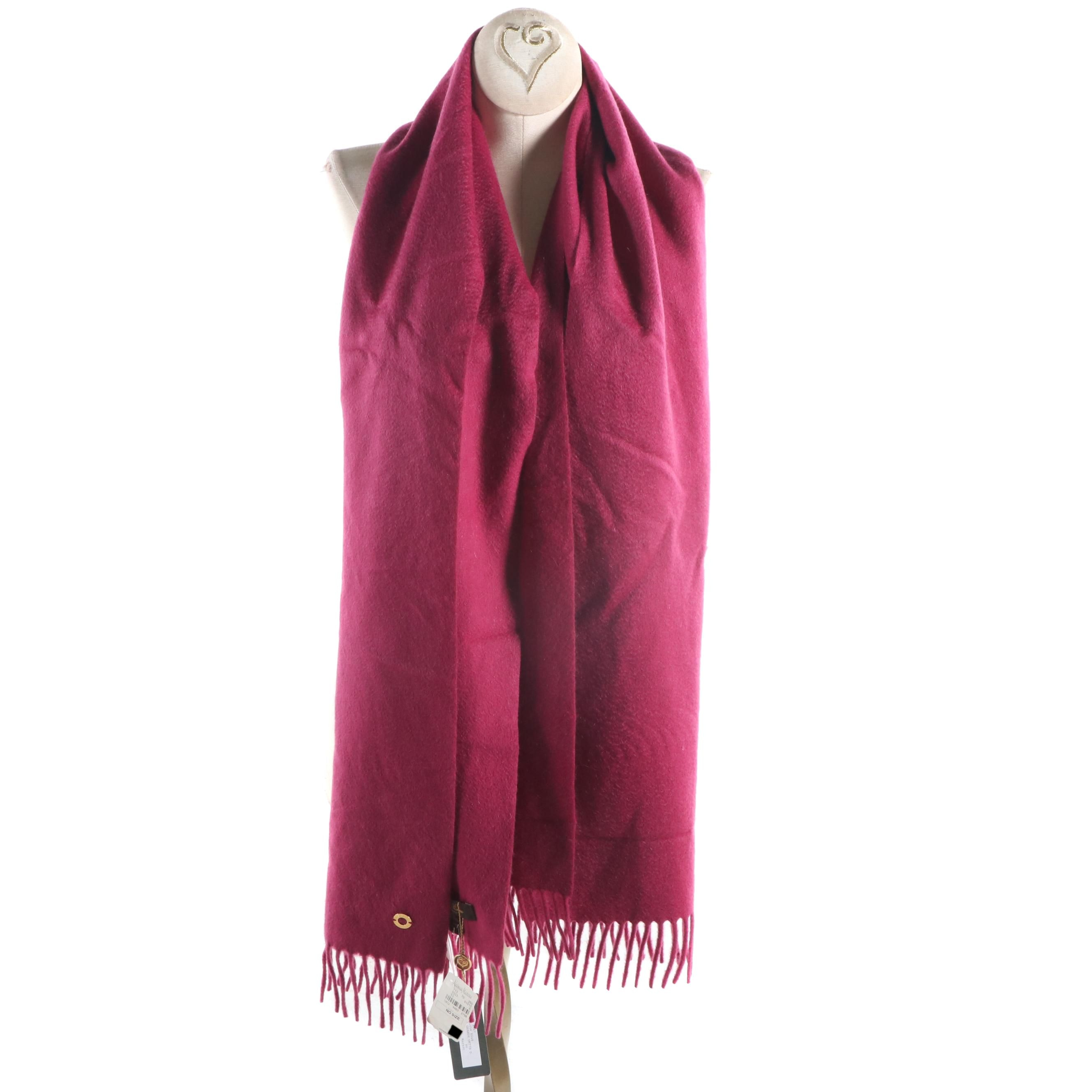 Loro Piana Cashmere Fringed Scarf, Made in Italy
