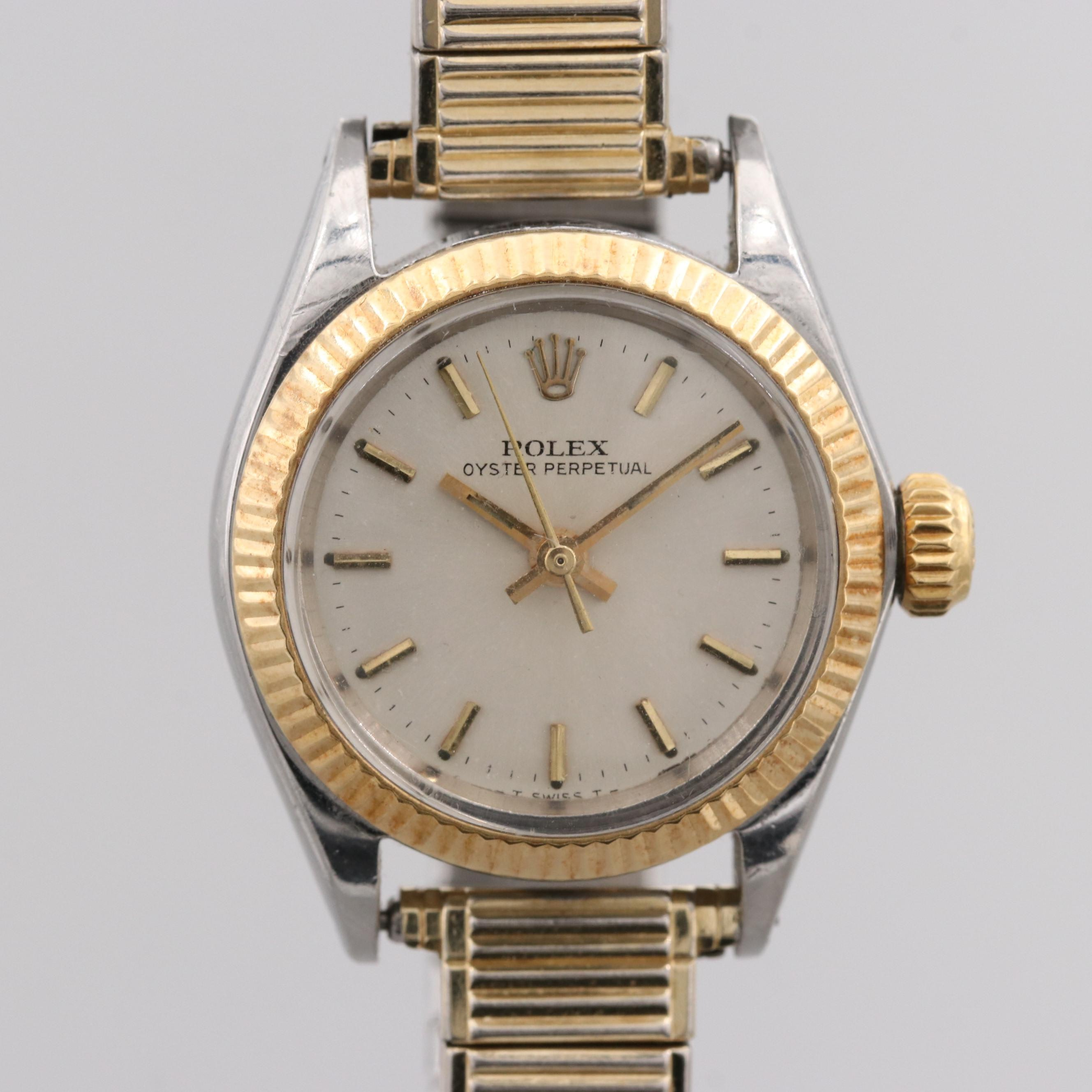 Rolex Oyster Perpetual Stainless Steel and 18K Yellow Gold Wristwatch, 1967