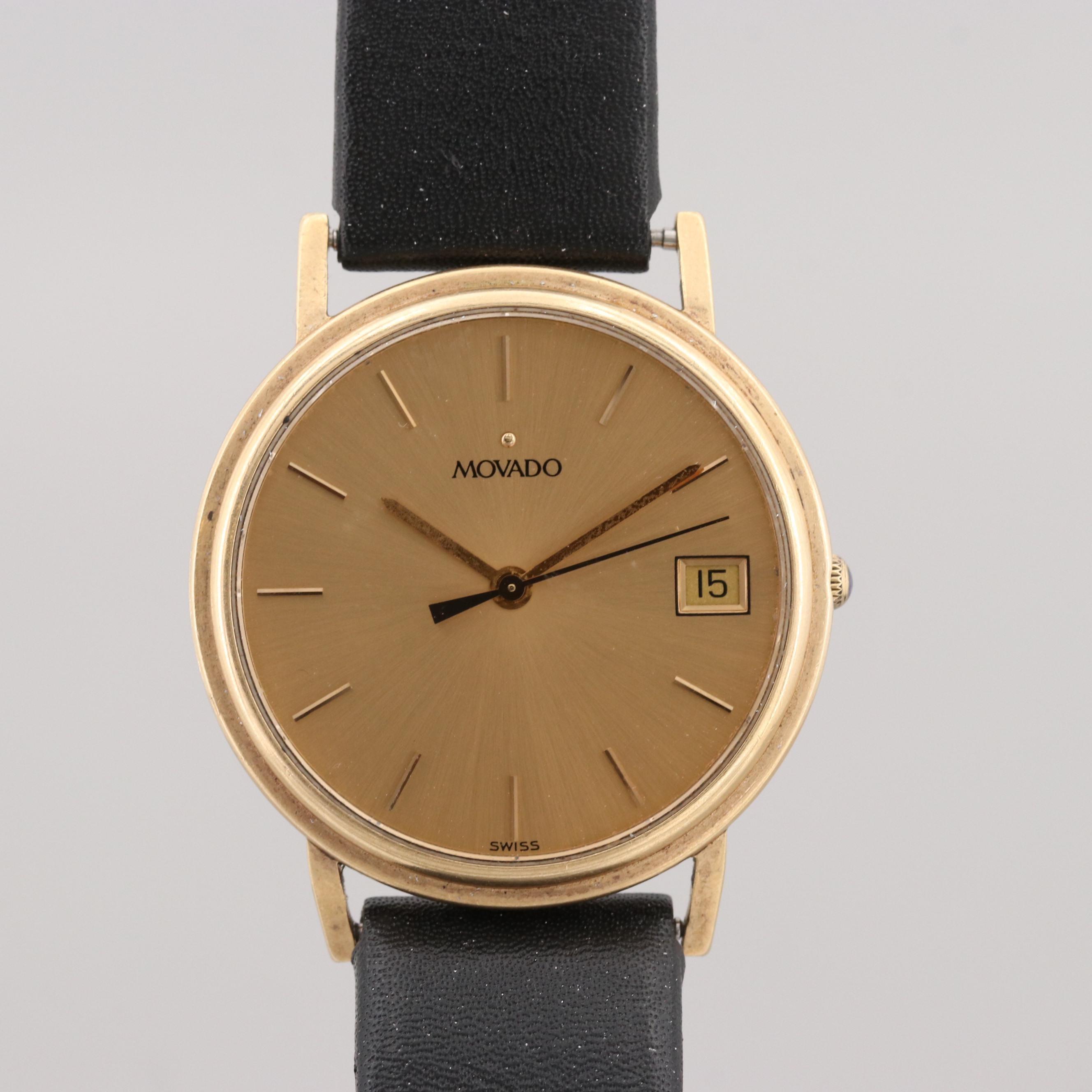 Movado 14K Yellow Gold Quartz Wristwatch