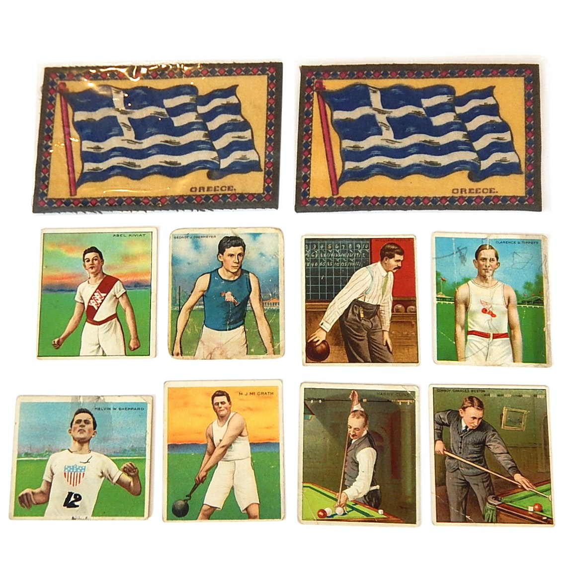 1910 Mecca Cigarette Sports Cards and 1910 Era Cigar Box Felts
