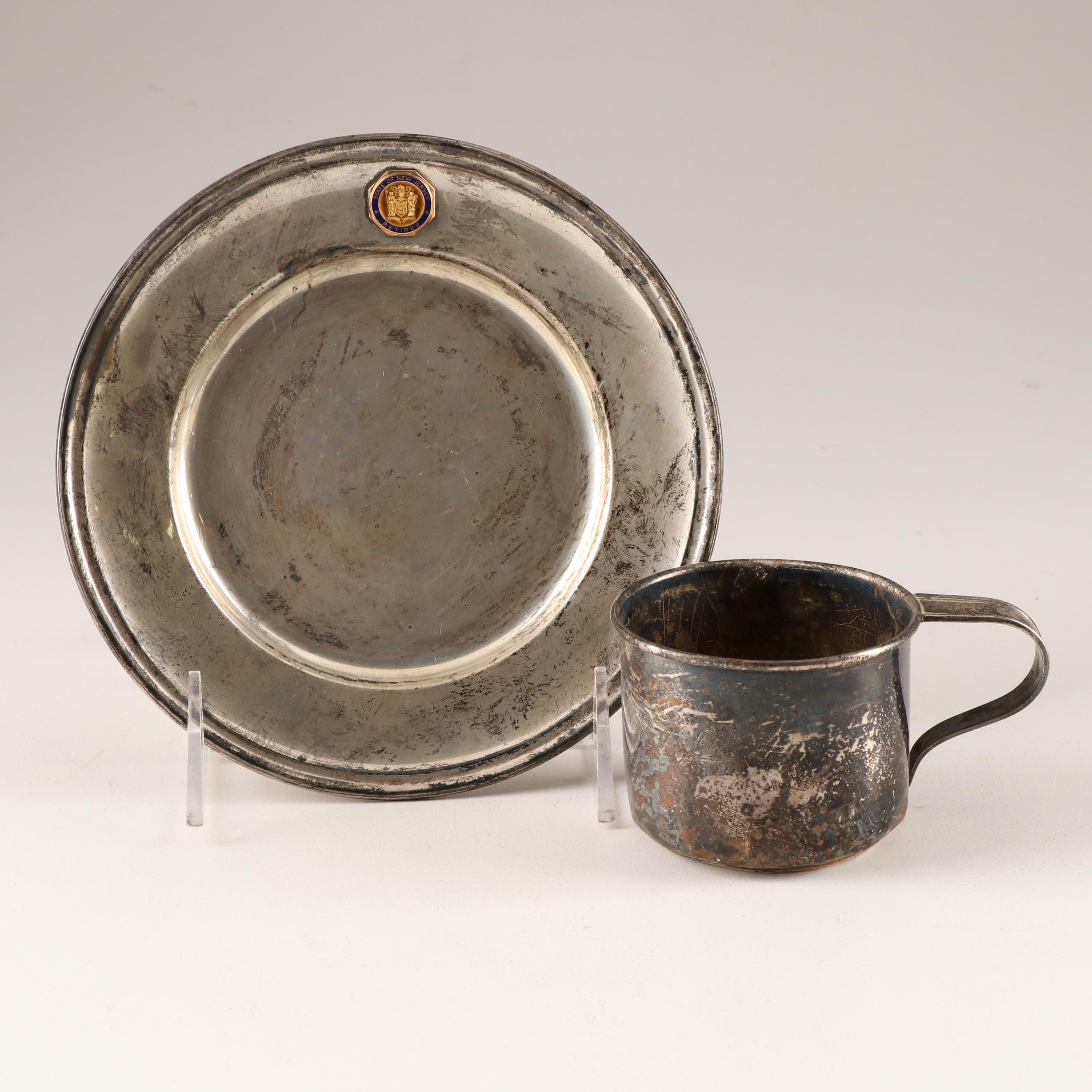 Gorham Sterling Silver Salver and Baby Cup