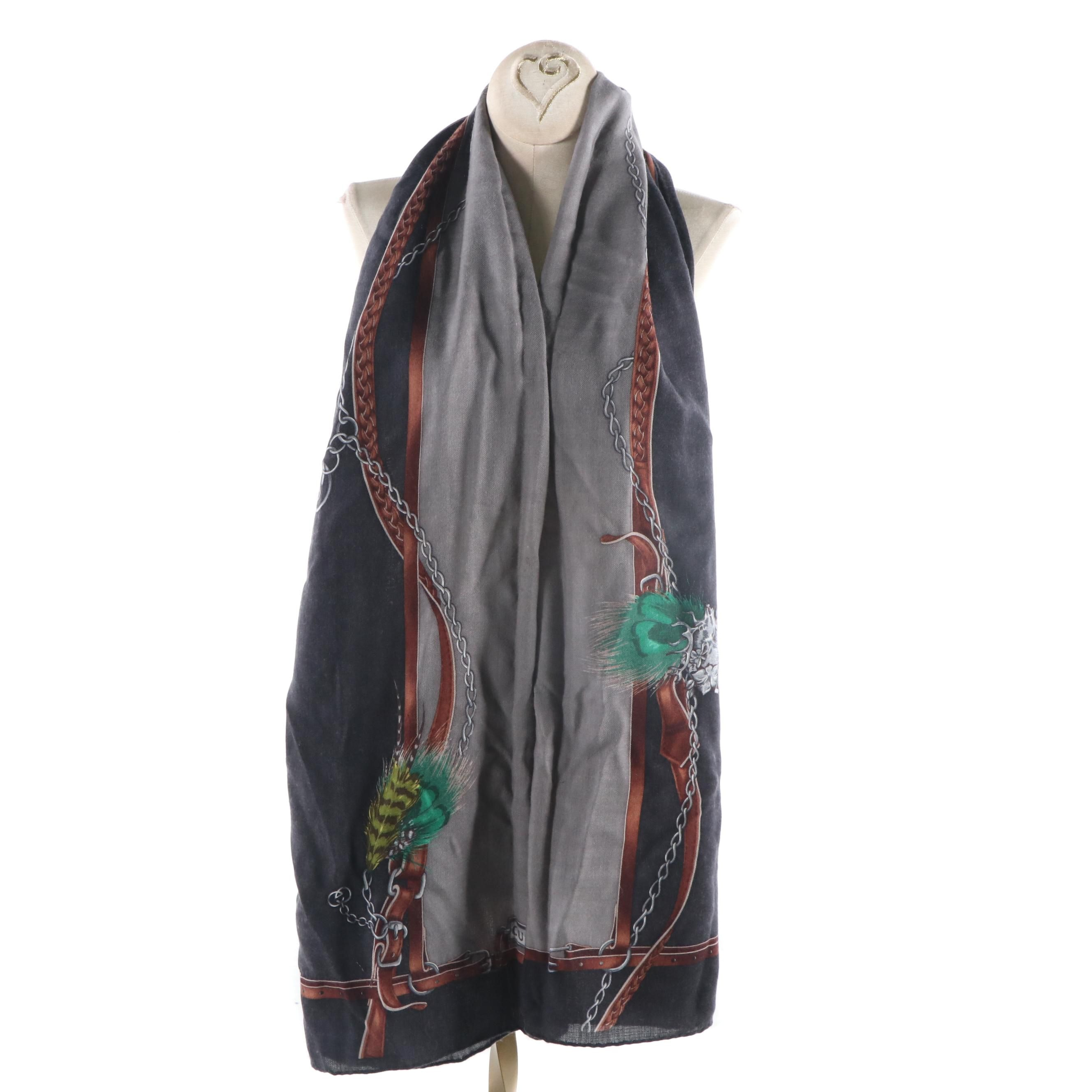 Gucci Cashmere Blend Scarf, Made in Italy