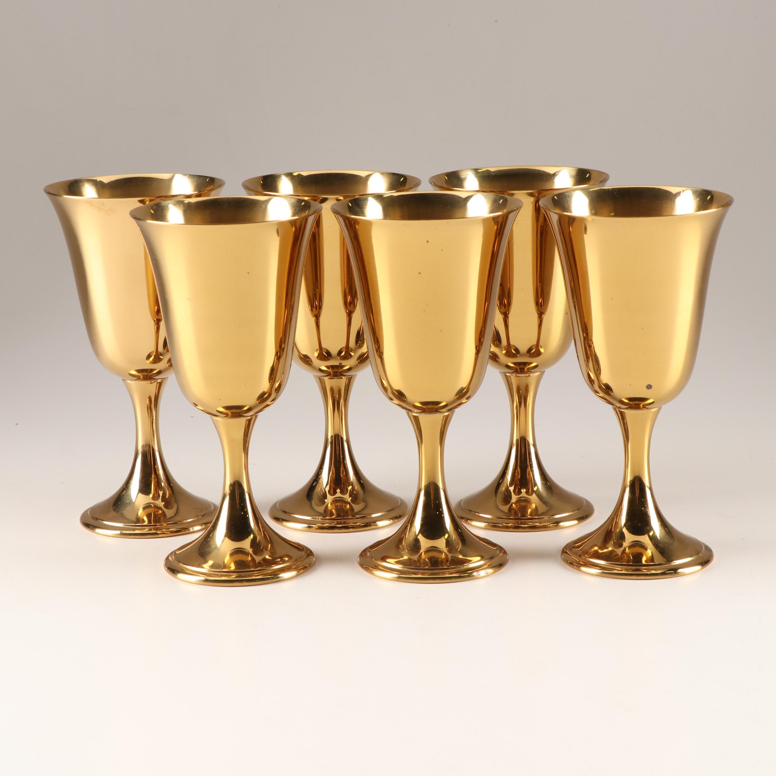 Gorham Giftware Gold Tone Goblets