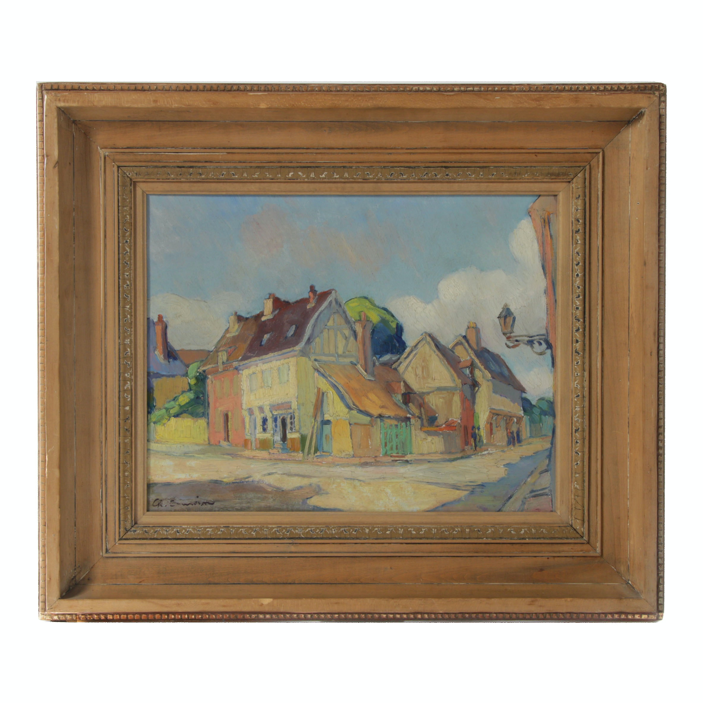 "Charles Camoin Fauvist Landscape Oil Painting ""Les Andelys Normandy, France"""