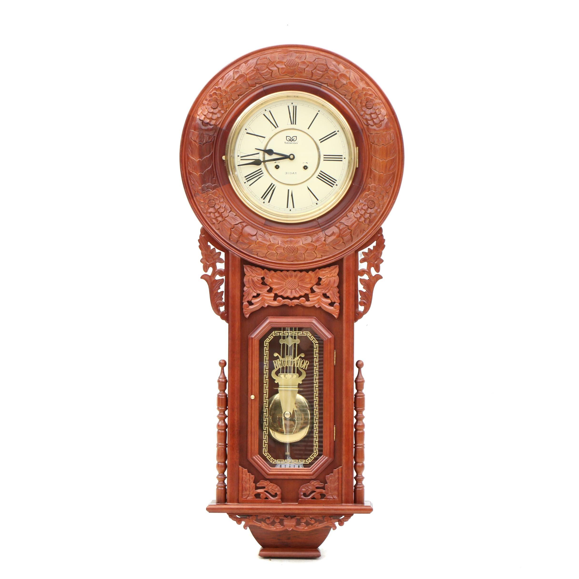 Beacon 31-Day Regulator Wall Clock