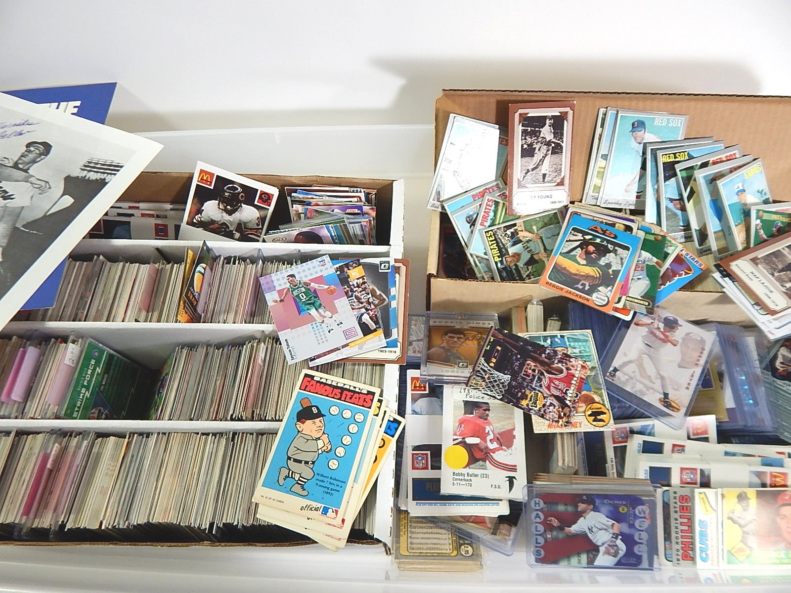 Large Tub of Sports Cards with Football, Baseball, Basketball - 2500 Ct.
