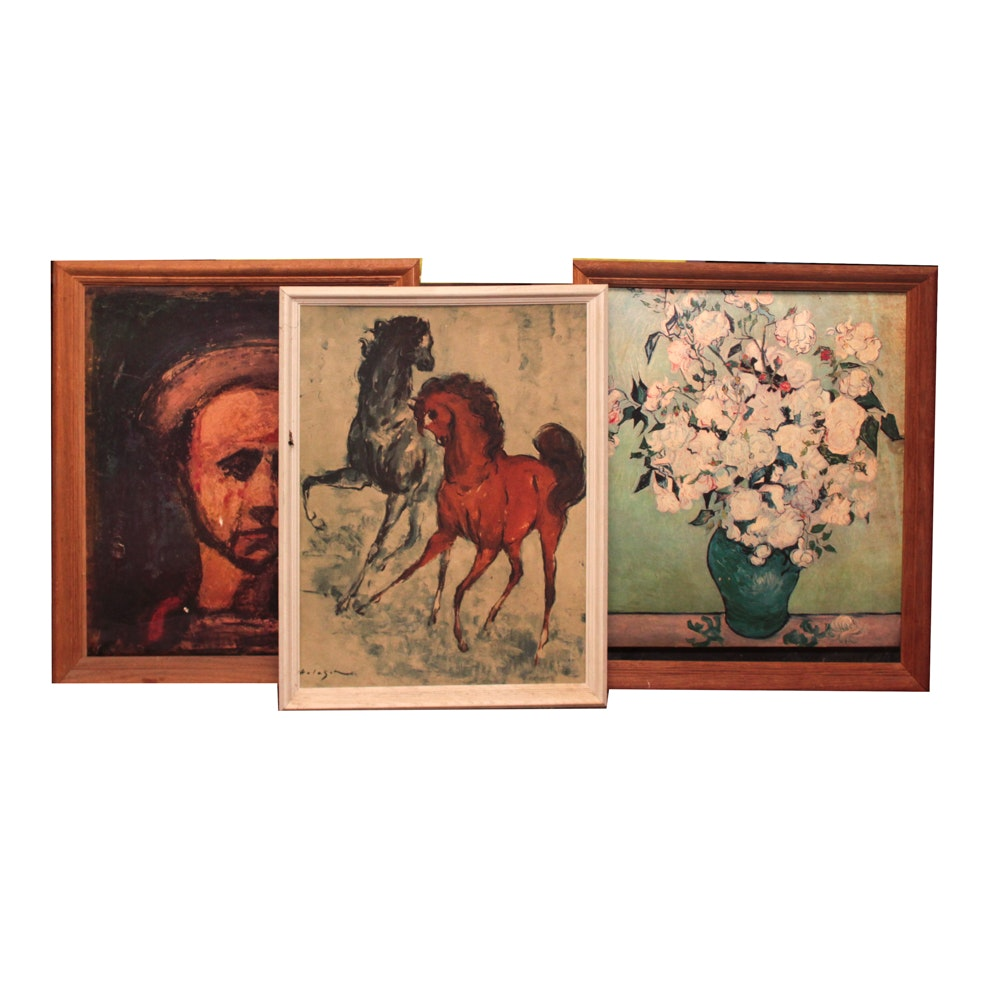 Reproduction Prints After Van Gogh, Rouault, and Holesch