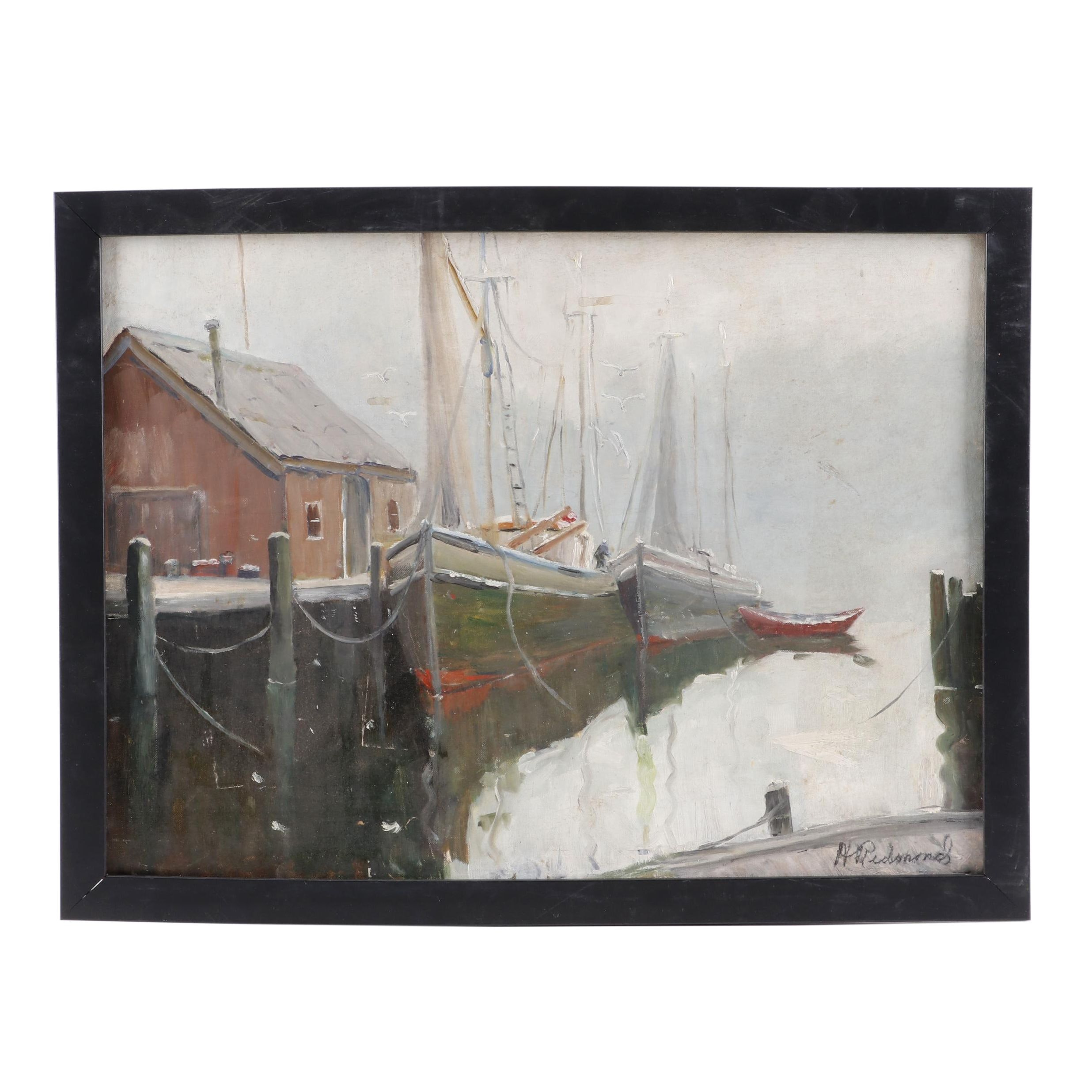 Helen Richmond Nautical Oil Painting