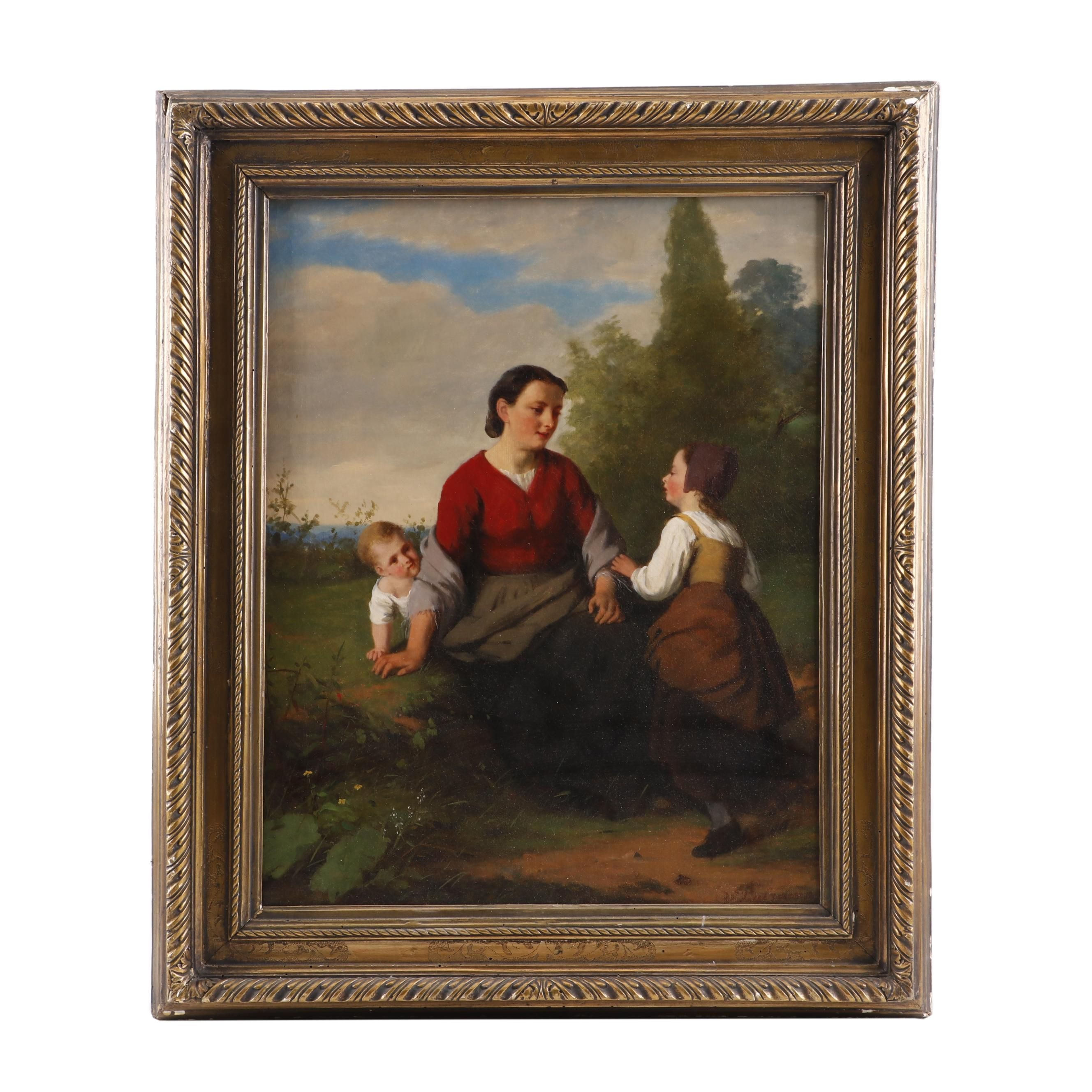 Jan Walraven Mid 19th Century Oil Painting