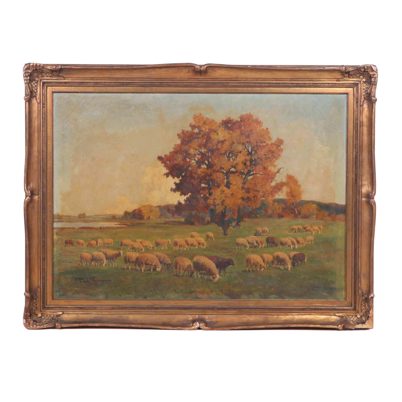 Paul Thinner Oil Landscape Painting