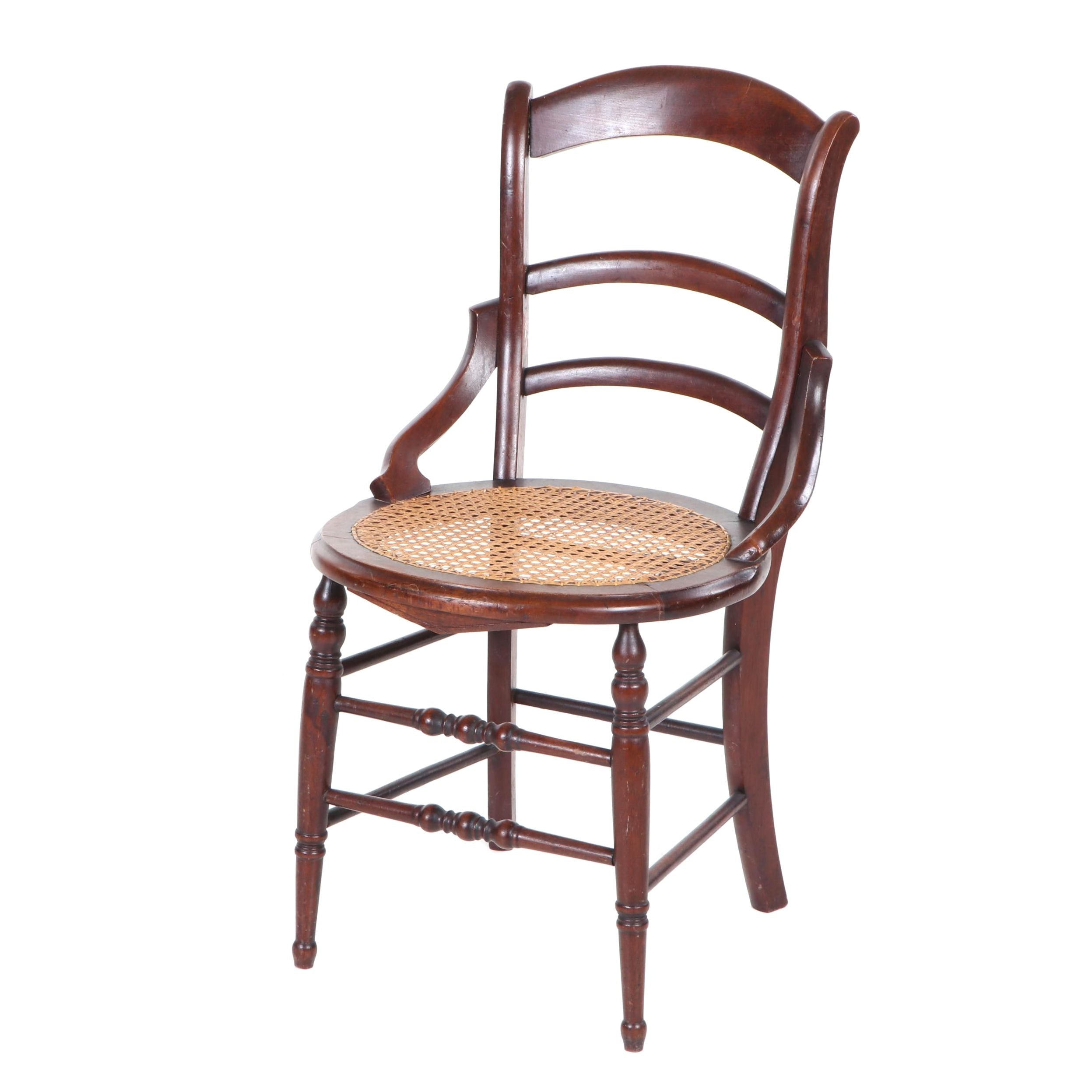 Mahogany Side Chair with Cane Seat, Early 20th Century