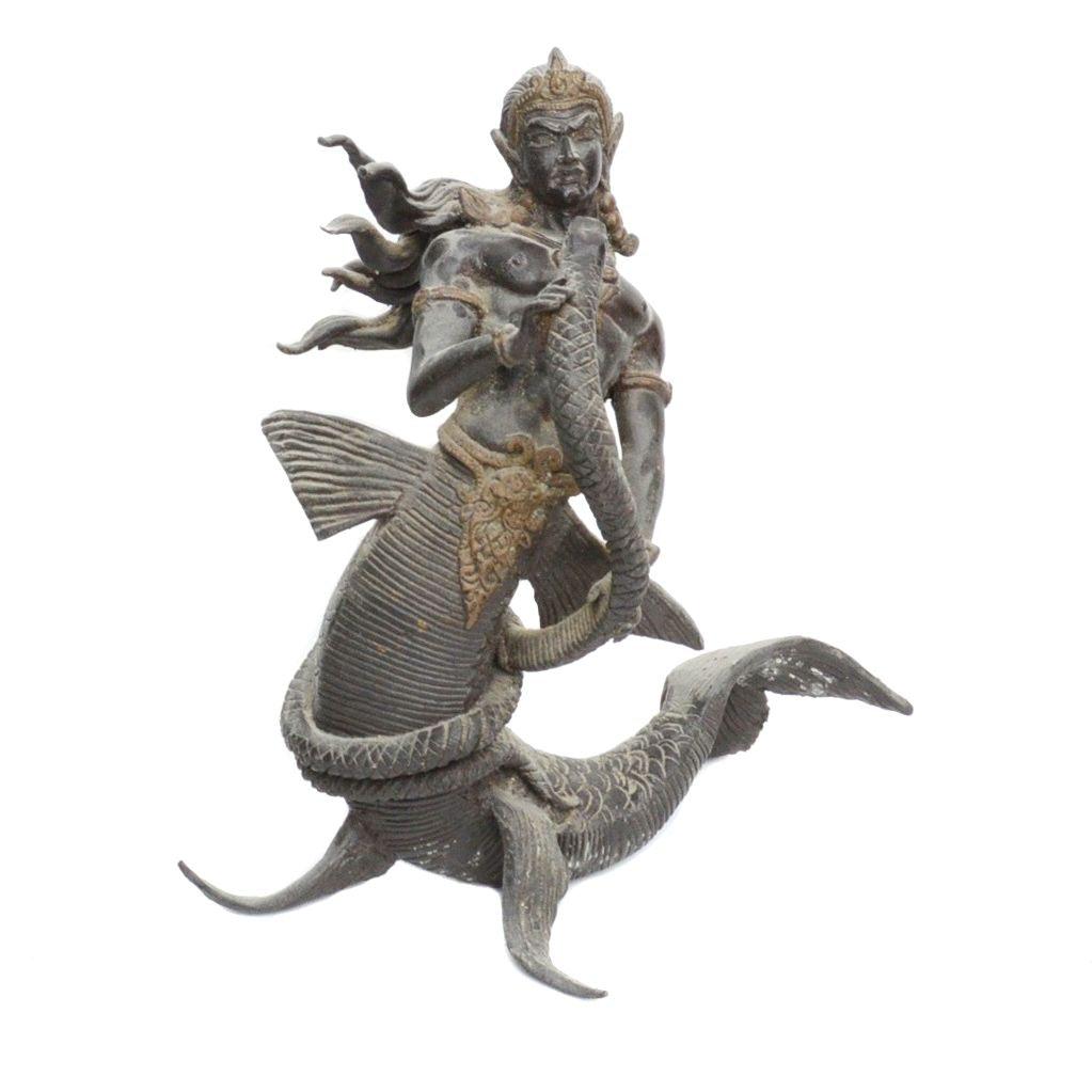 Cast Bronze Triton, Son of Poseidon, Sculpture